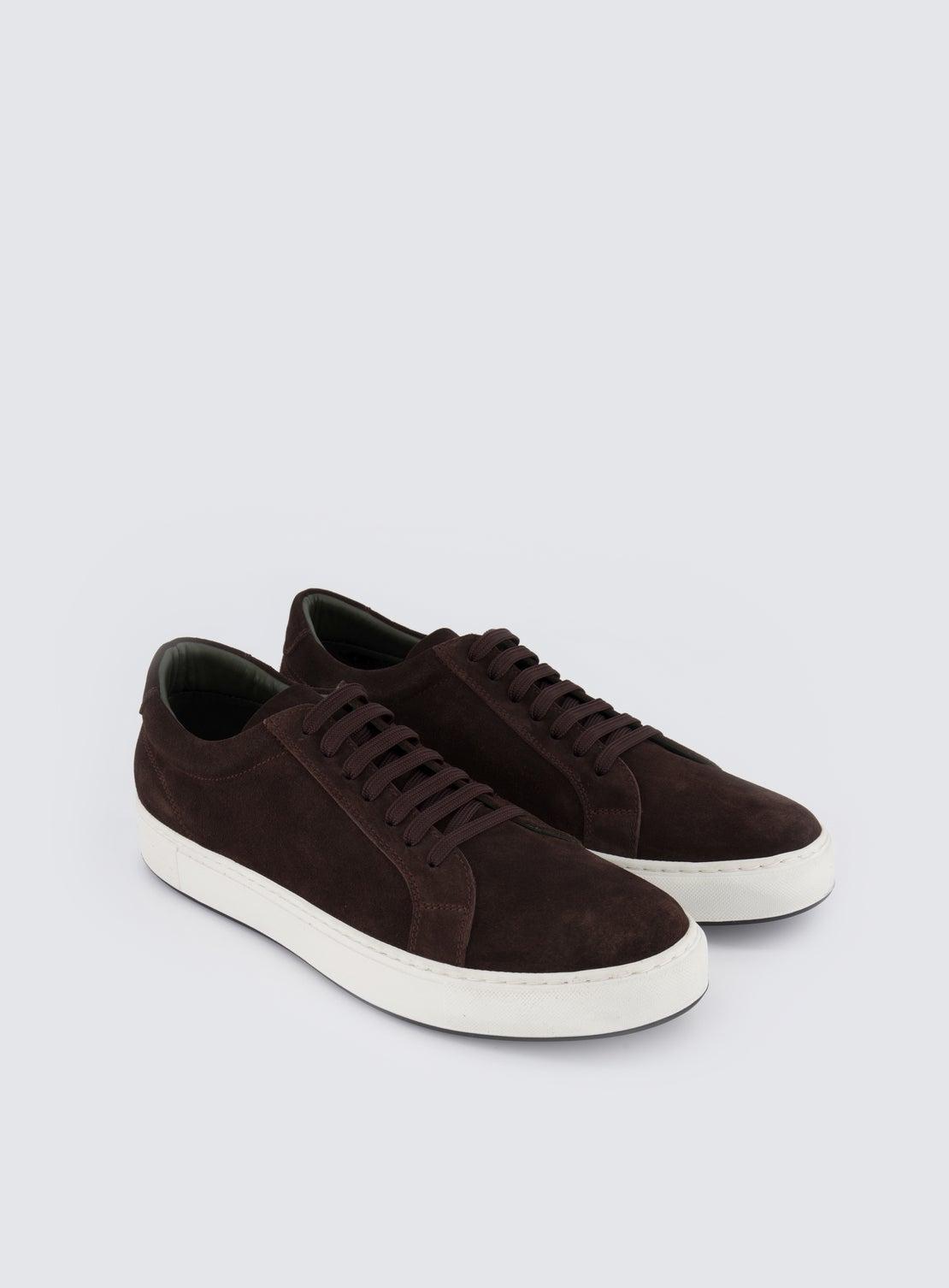 Coltrane Chocolate Suede Sneaker