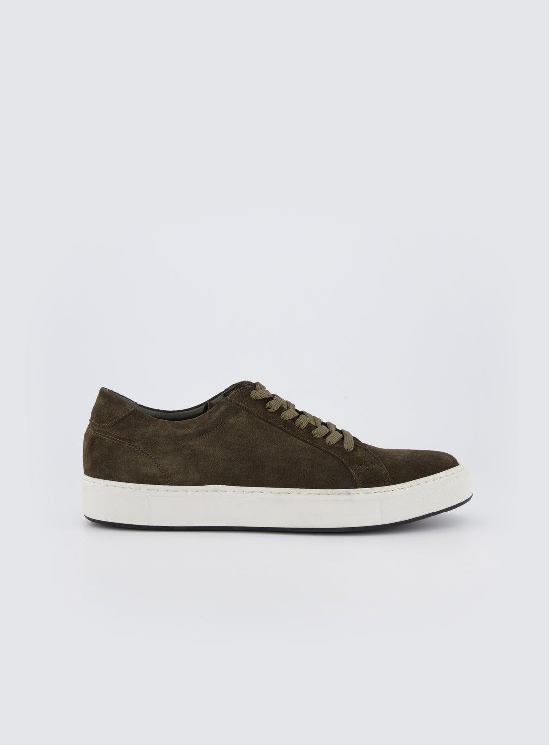 Coltrane Olive Suede Sneaker