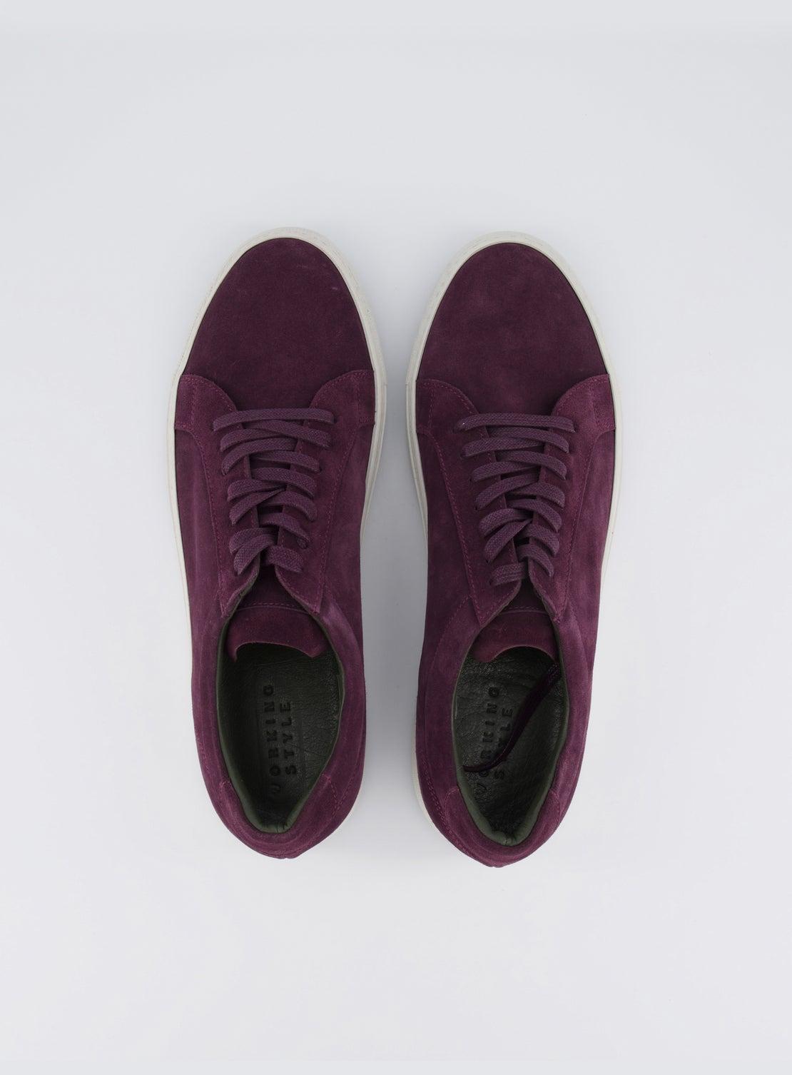 Coltrane Plum Suede Sneaker