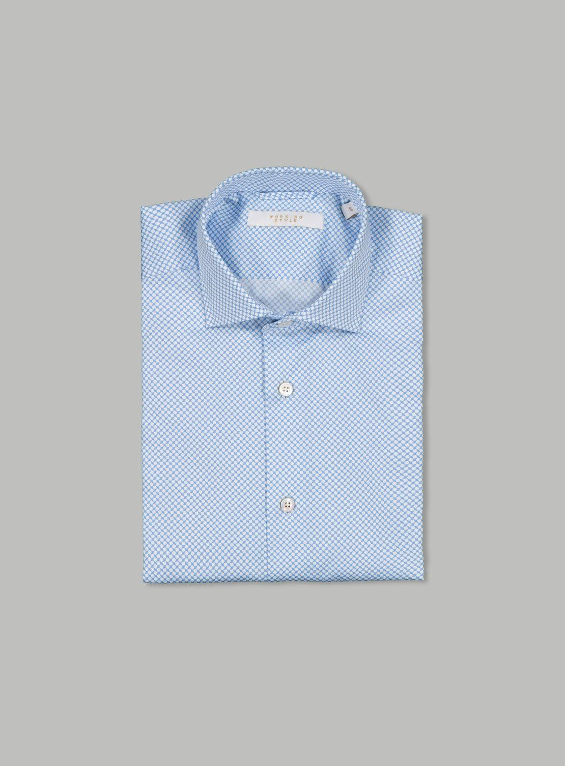 Conrad Blue Pattern Shirt