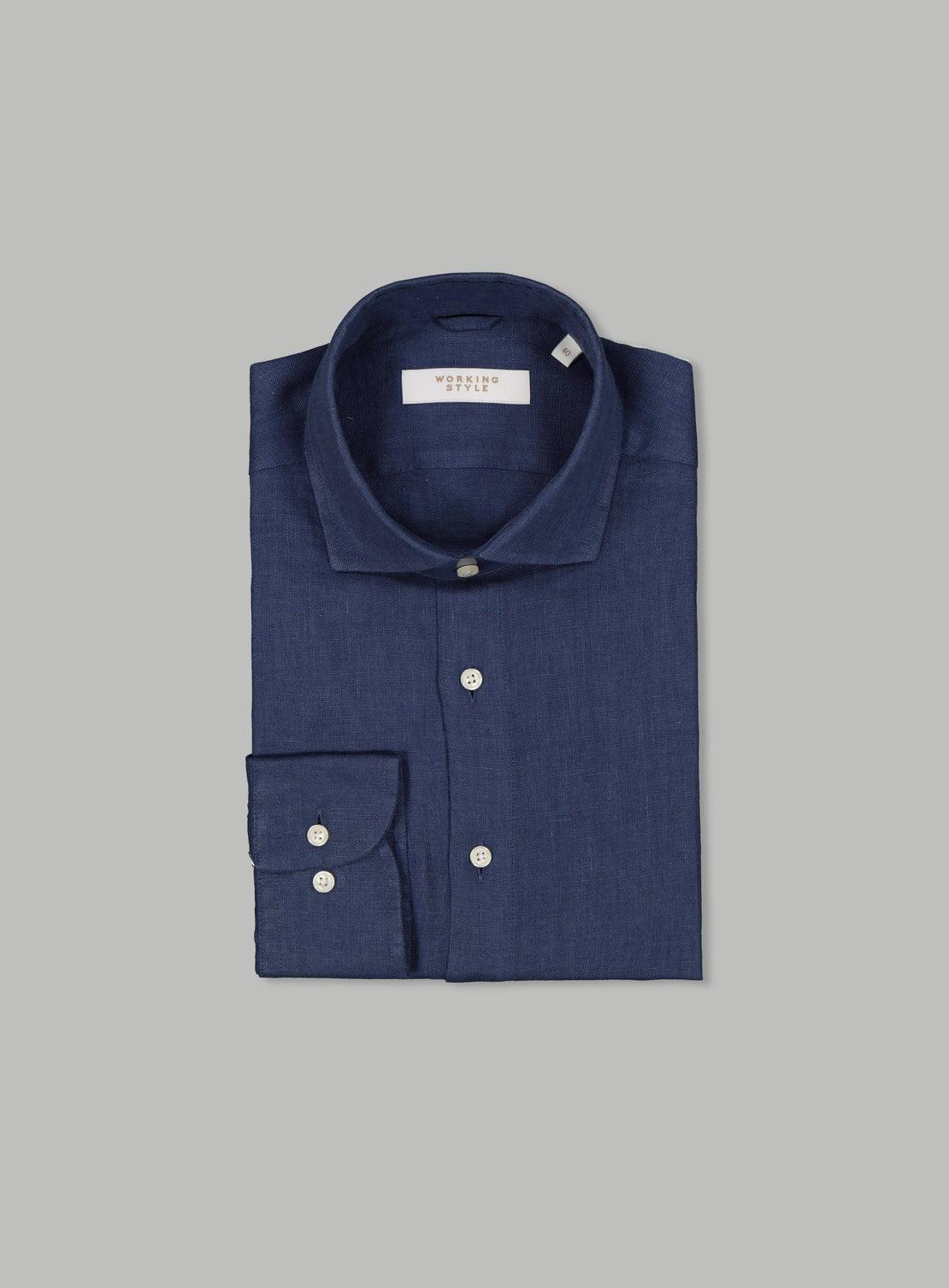 Constantin Navy Linen Shirt
