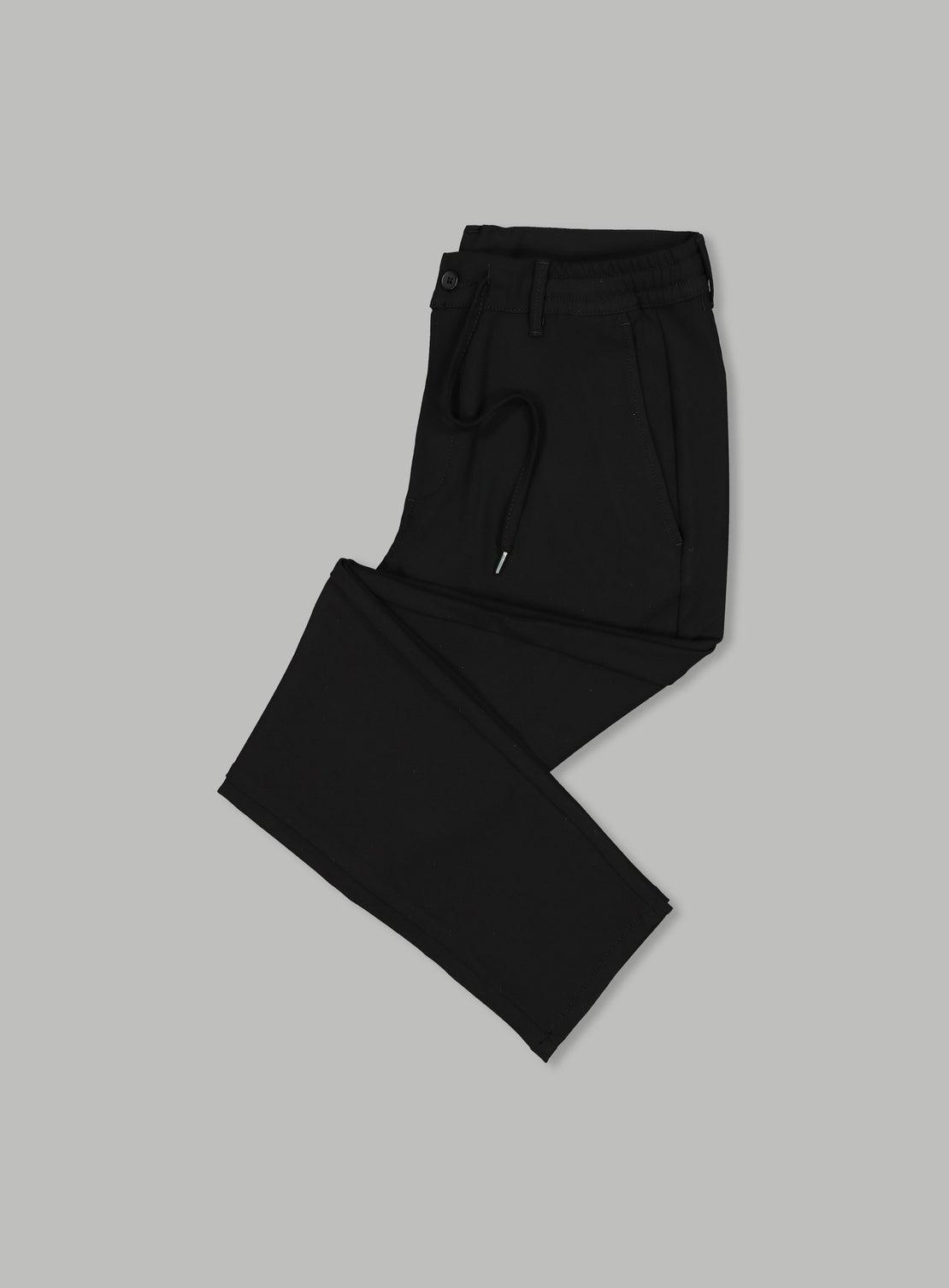 Denis Black Drawstring Pant
