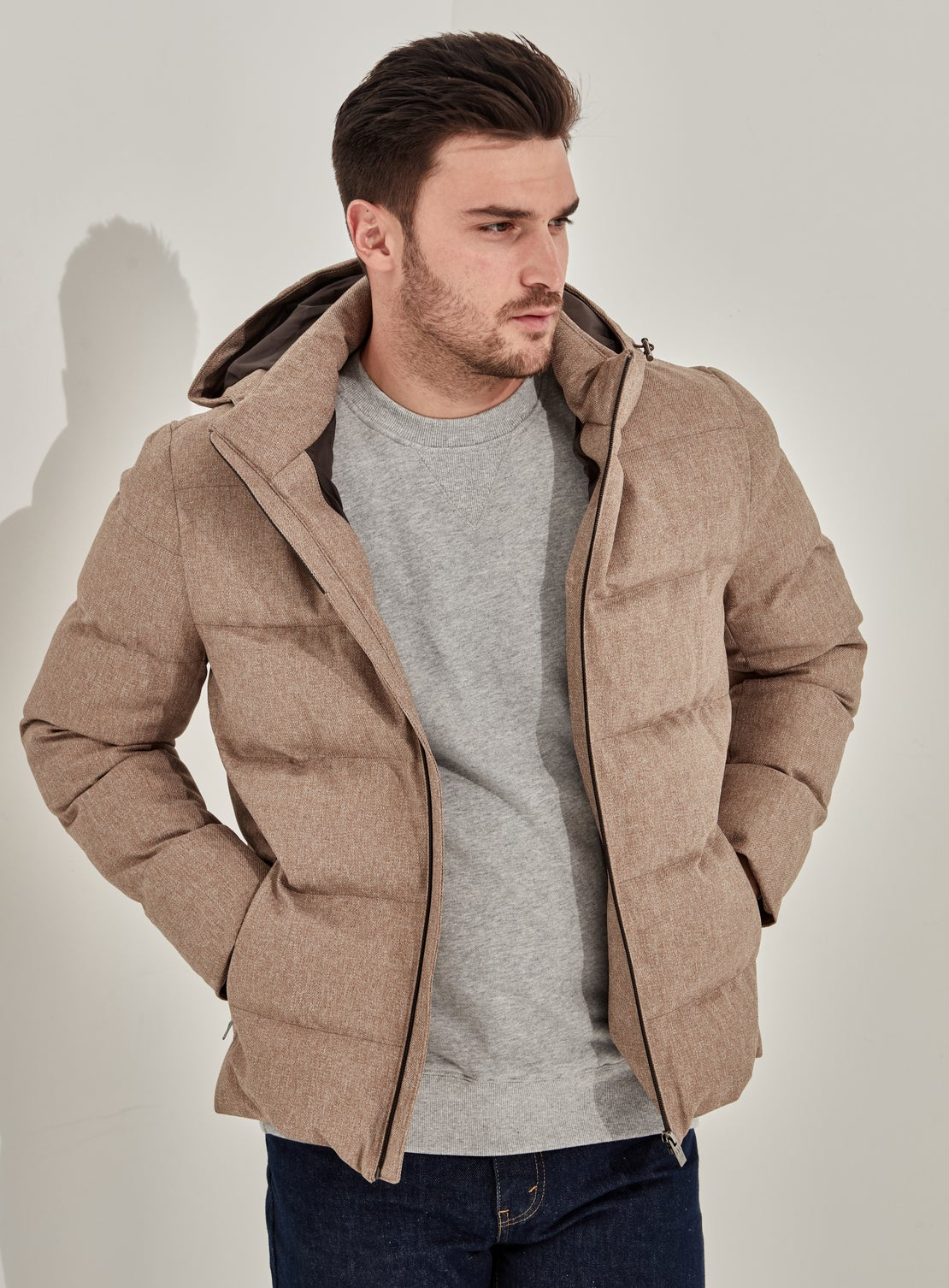 Dirk Twill Puffer Jacket
