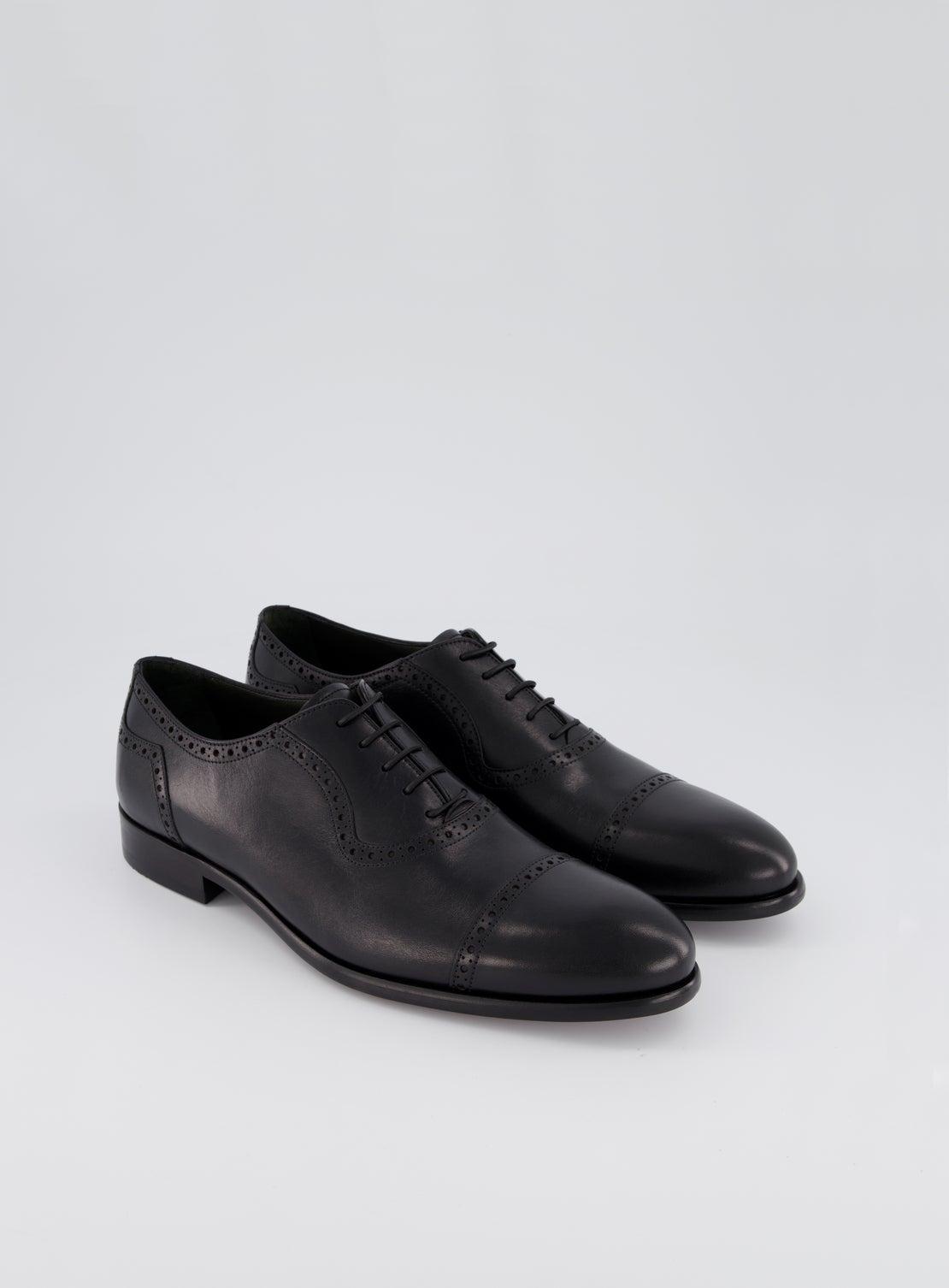 DM Black Brogue Shoe