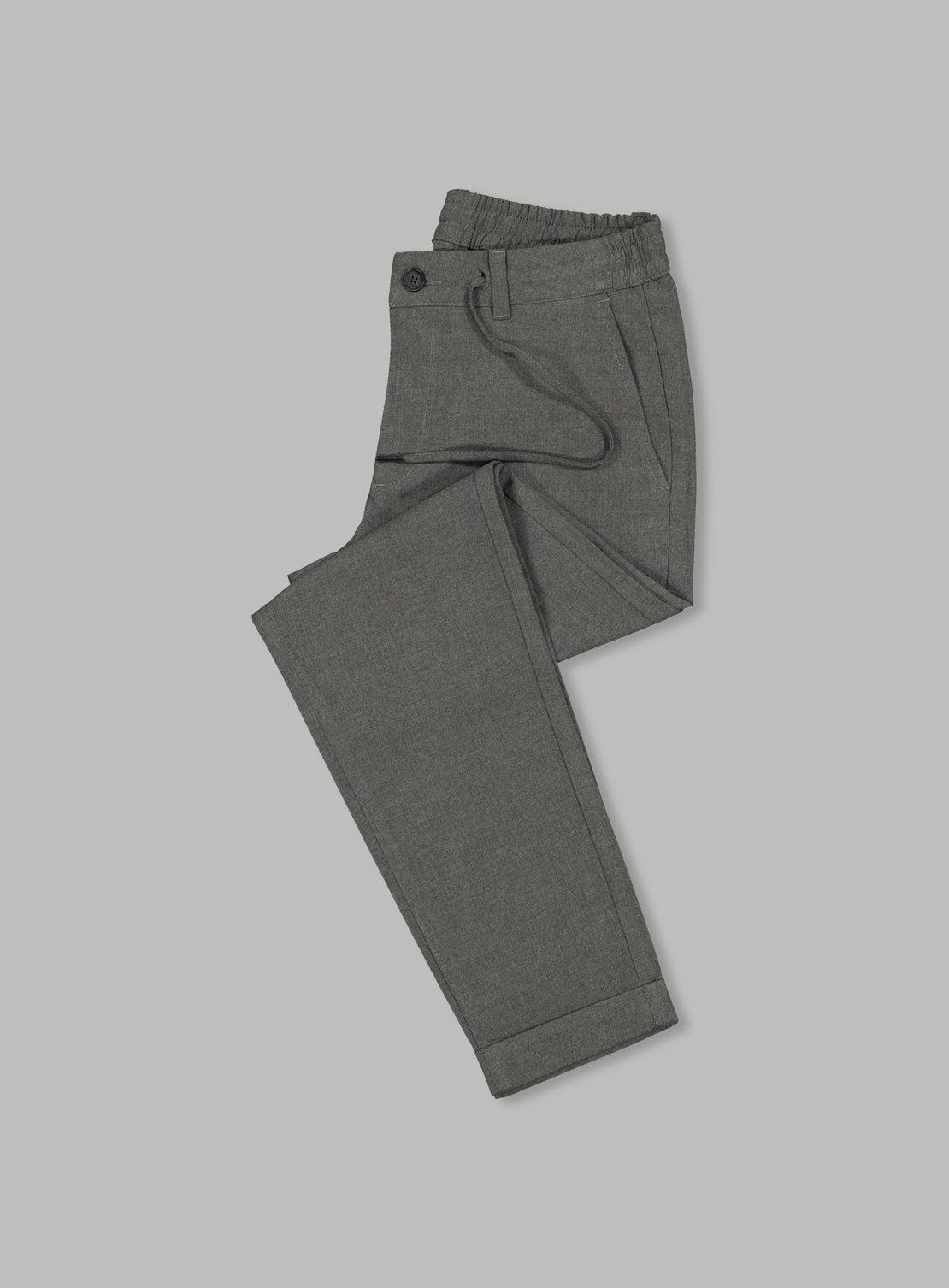 Dusty Grey Drawstring Trouser