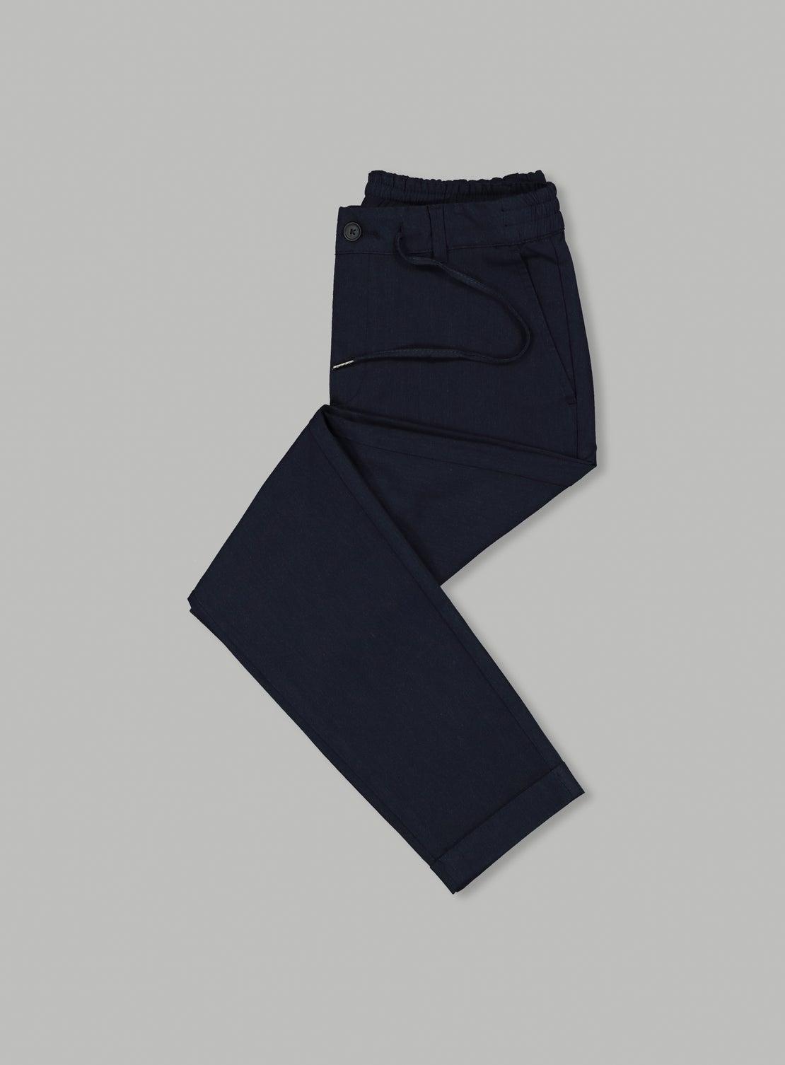 Dusty Navy Drawstring Trouser