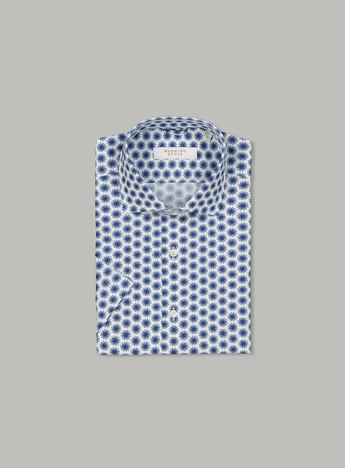 Fabrizio Blue Short Sleeve Shirt