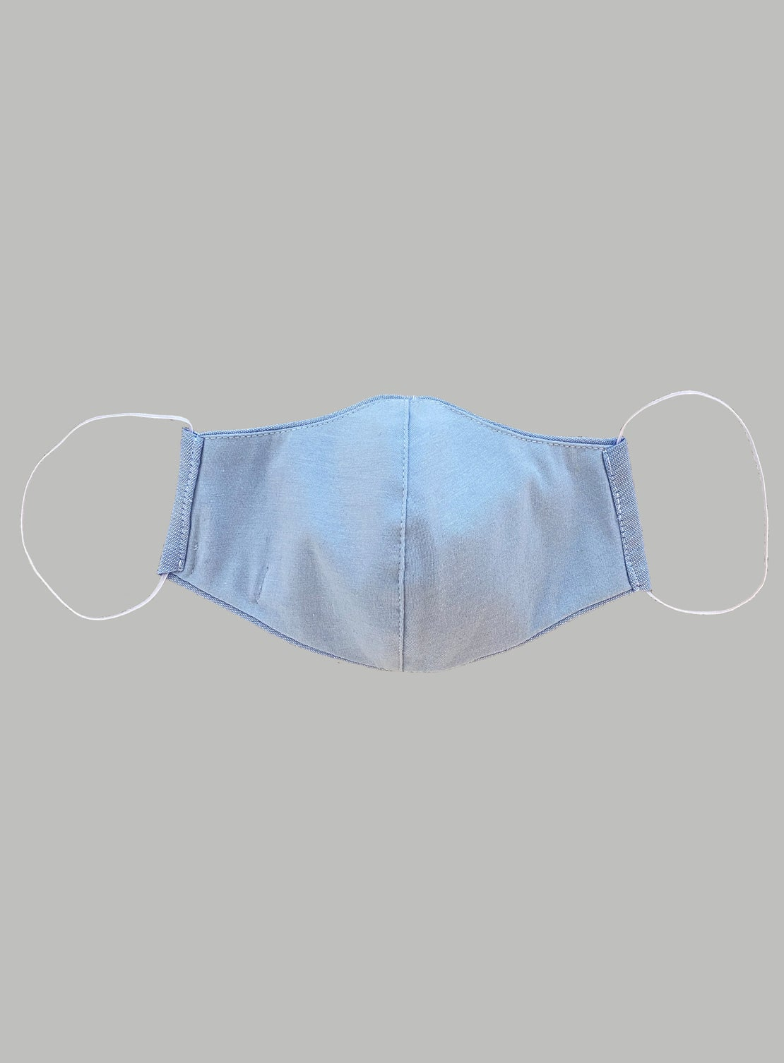 Face Mask - Blue Oxford Cotton