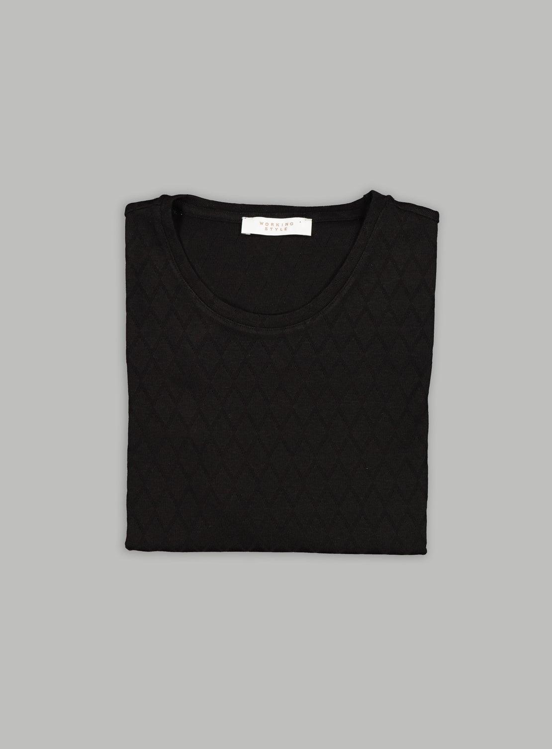 Florian Black Diamond Knitted T-Shirt