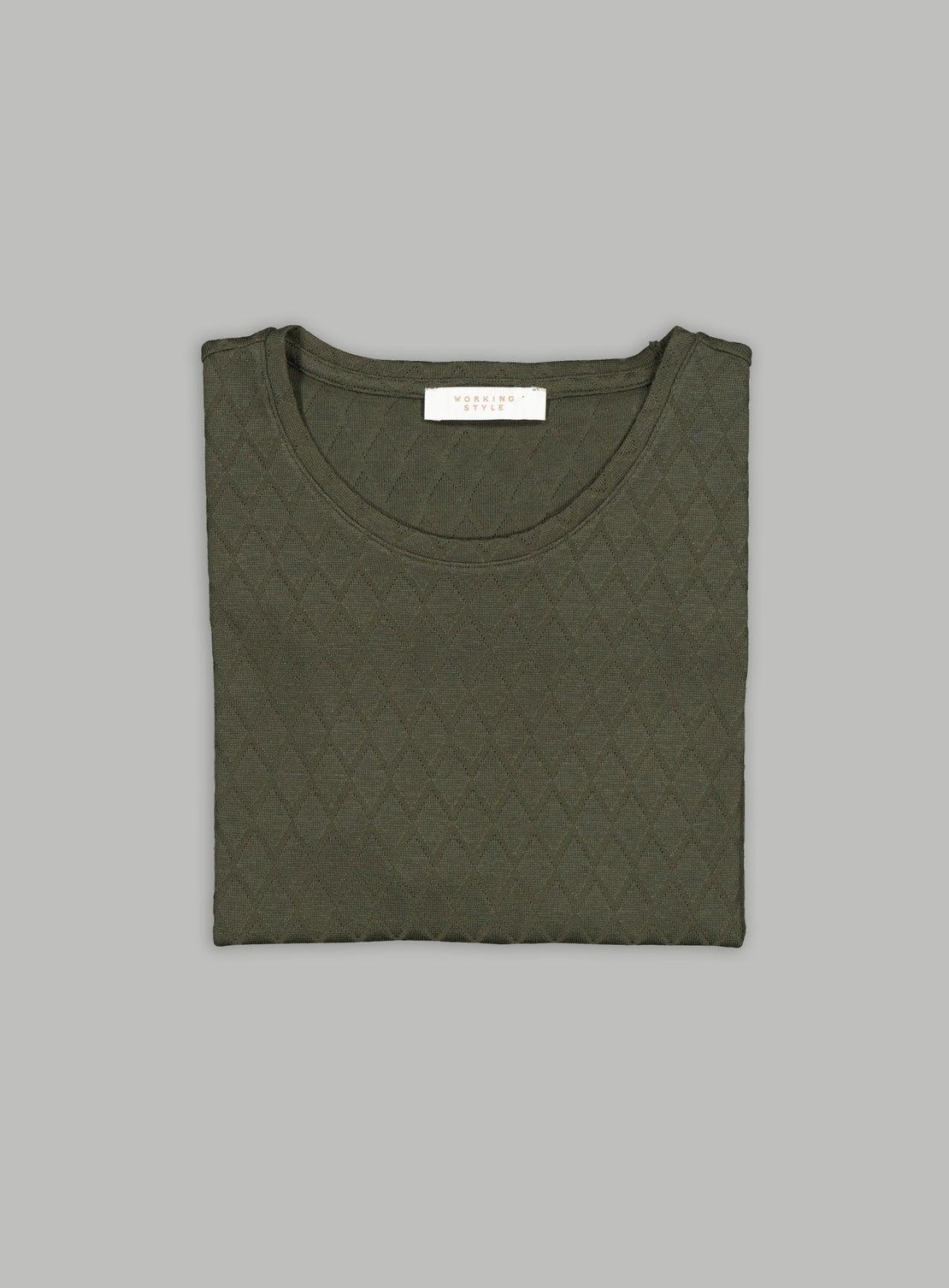 Florian Green Diamond Knitted T-Shirt