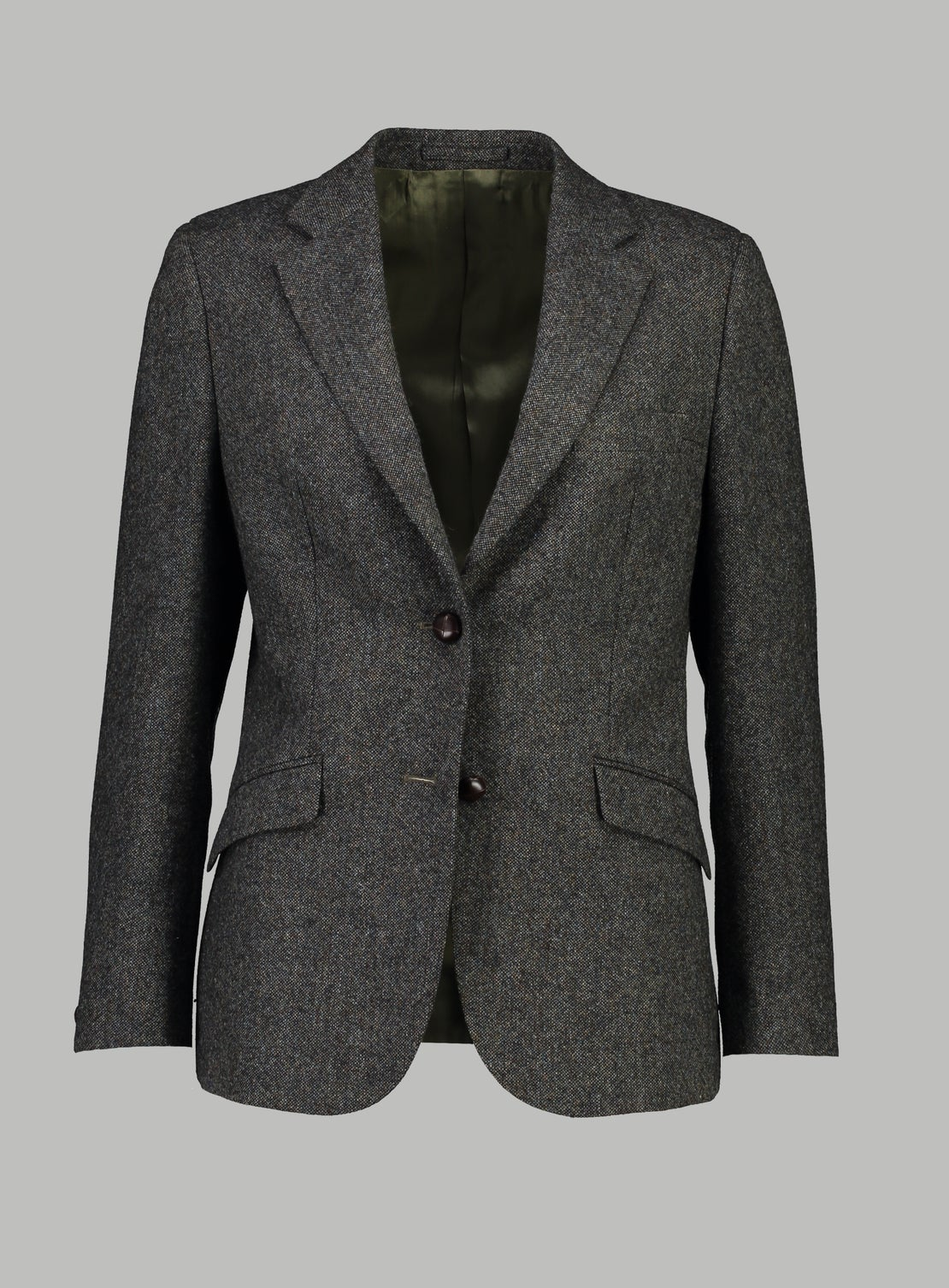 Forest Green 2-Button Donegal Jacket