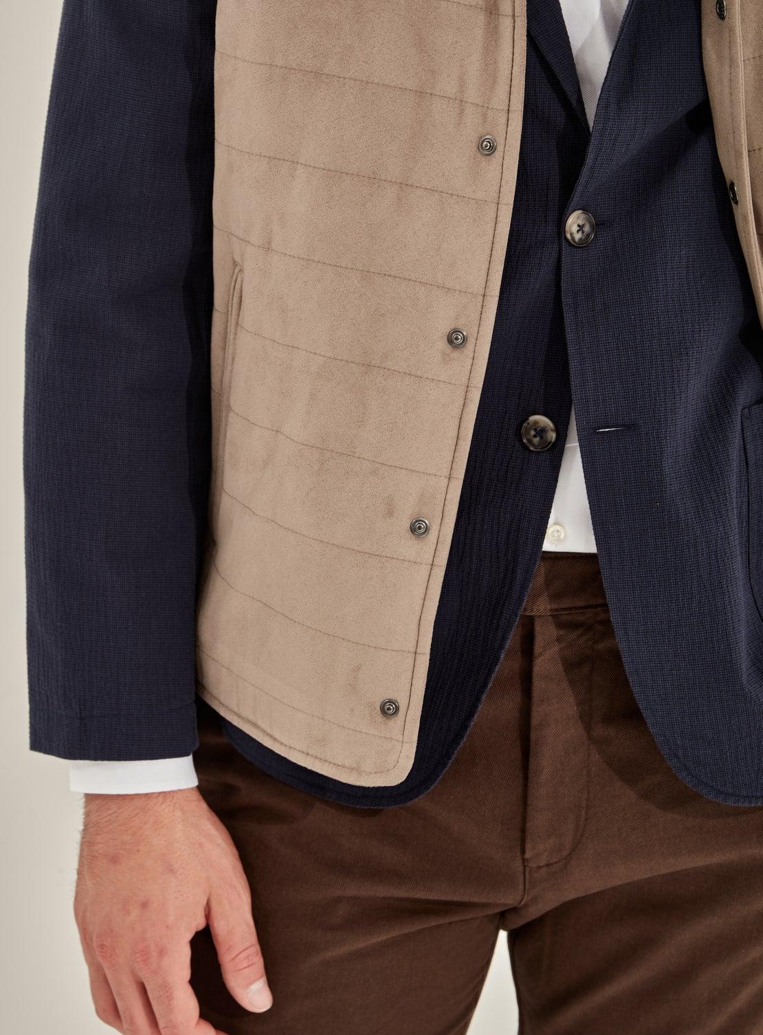 Foster Navy Houndstooth Jacket