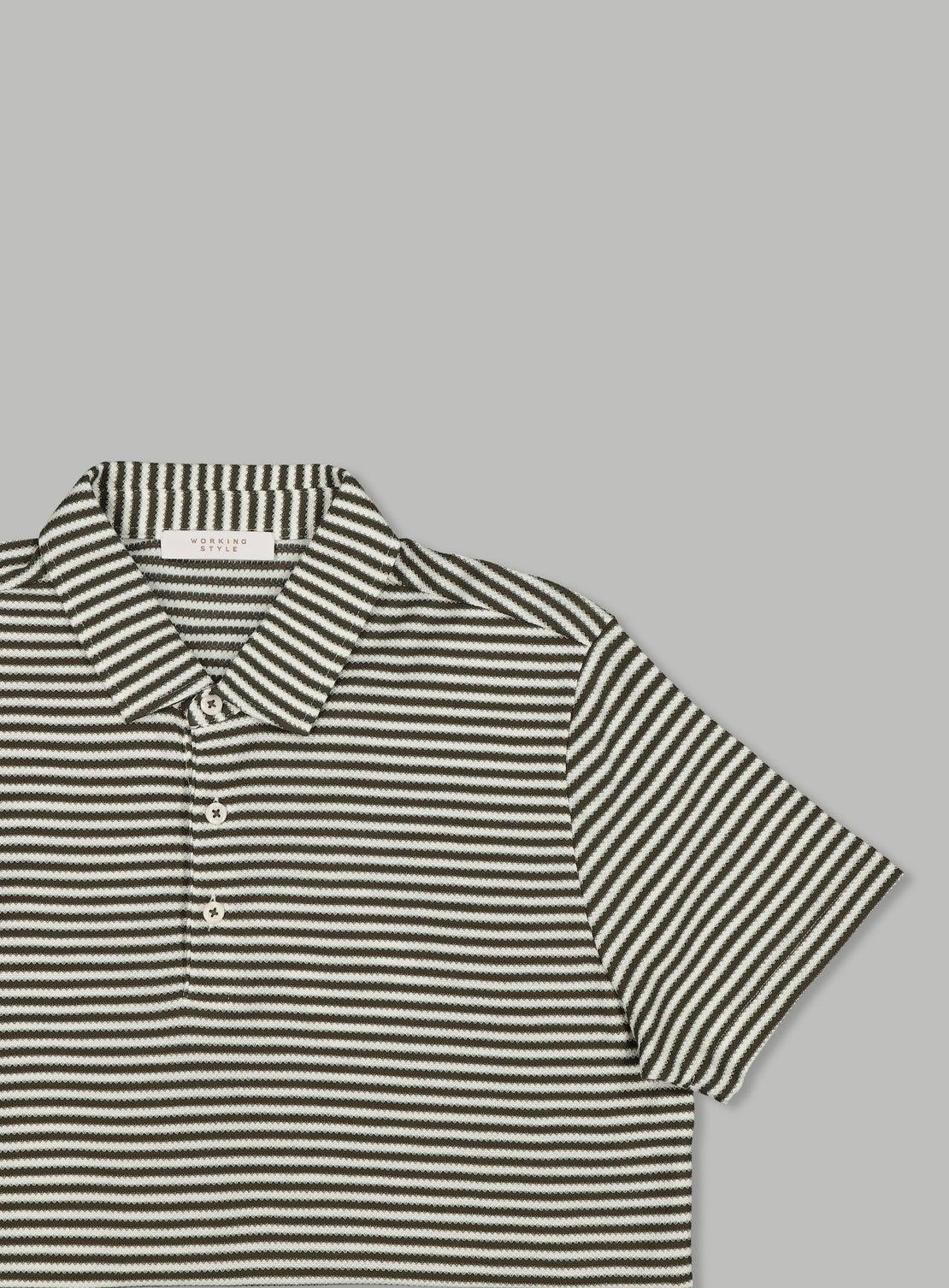 Franz Khaki Stripe Polo