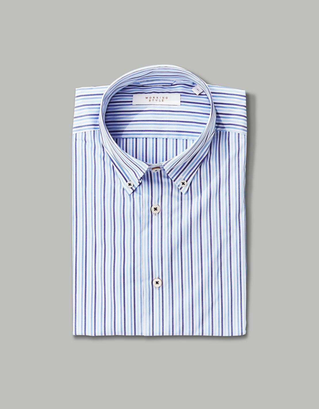 Gradient Blue Stripe Shirt