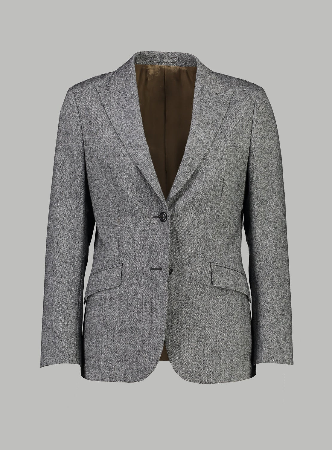 Grey 2-Button Donegal Jacket