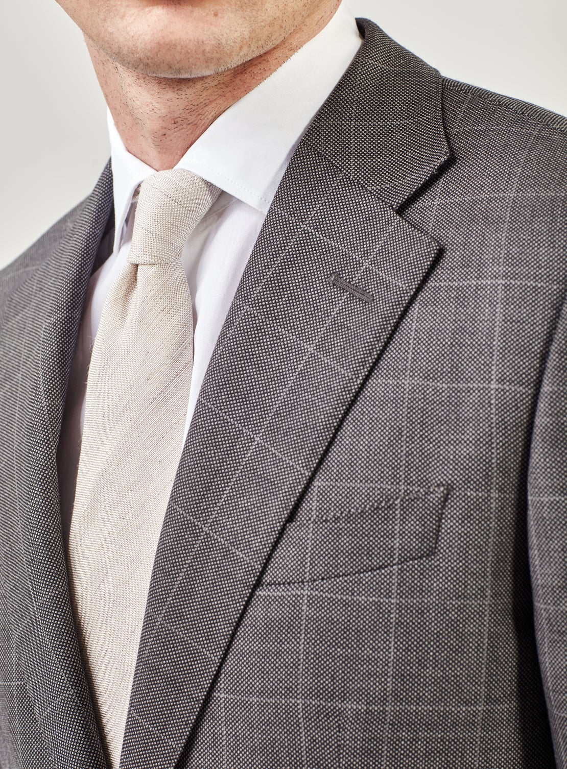 Grey Birdseye with WP Check Suit