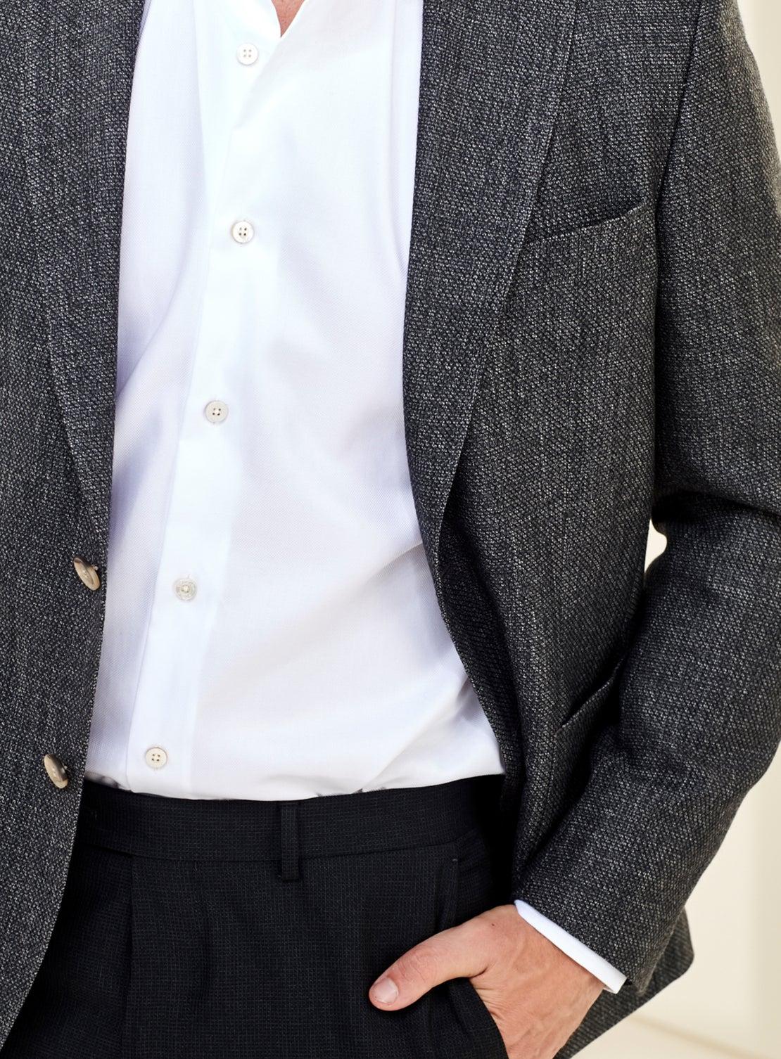 Grey Large Birdseye Jacket