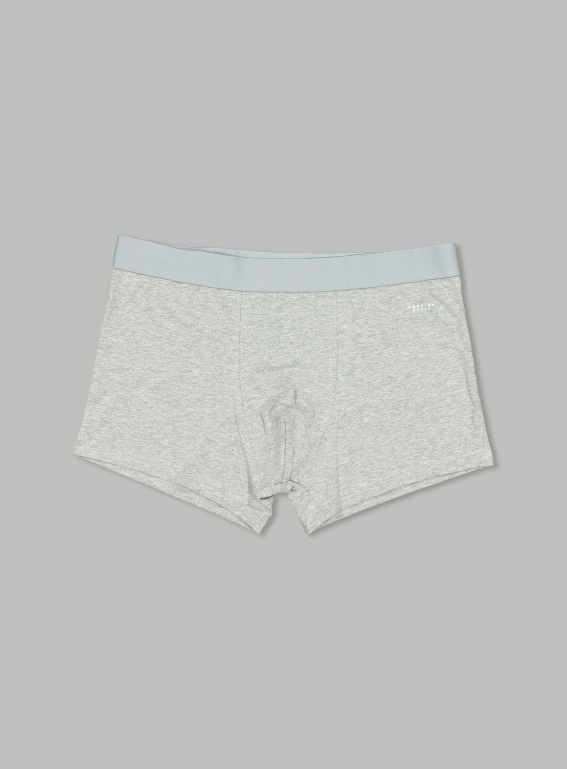*Grey Marle Cotton Fitted Trunks