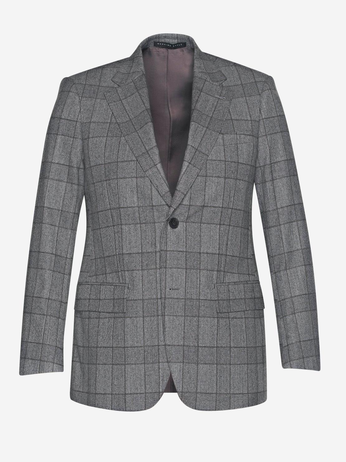 Grey & Nougat Check Suit