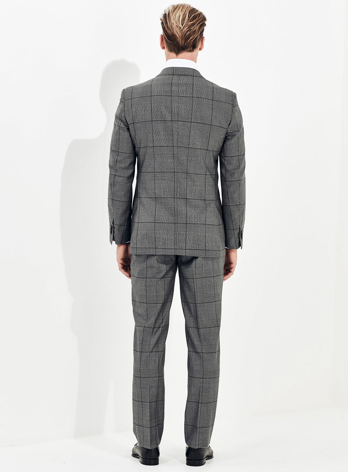 Grey Prince Of Wales Check Suit