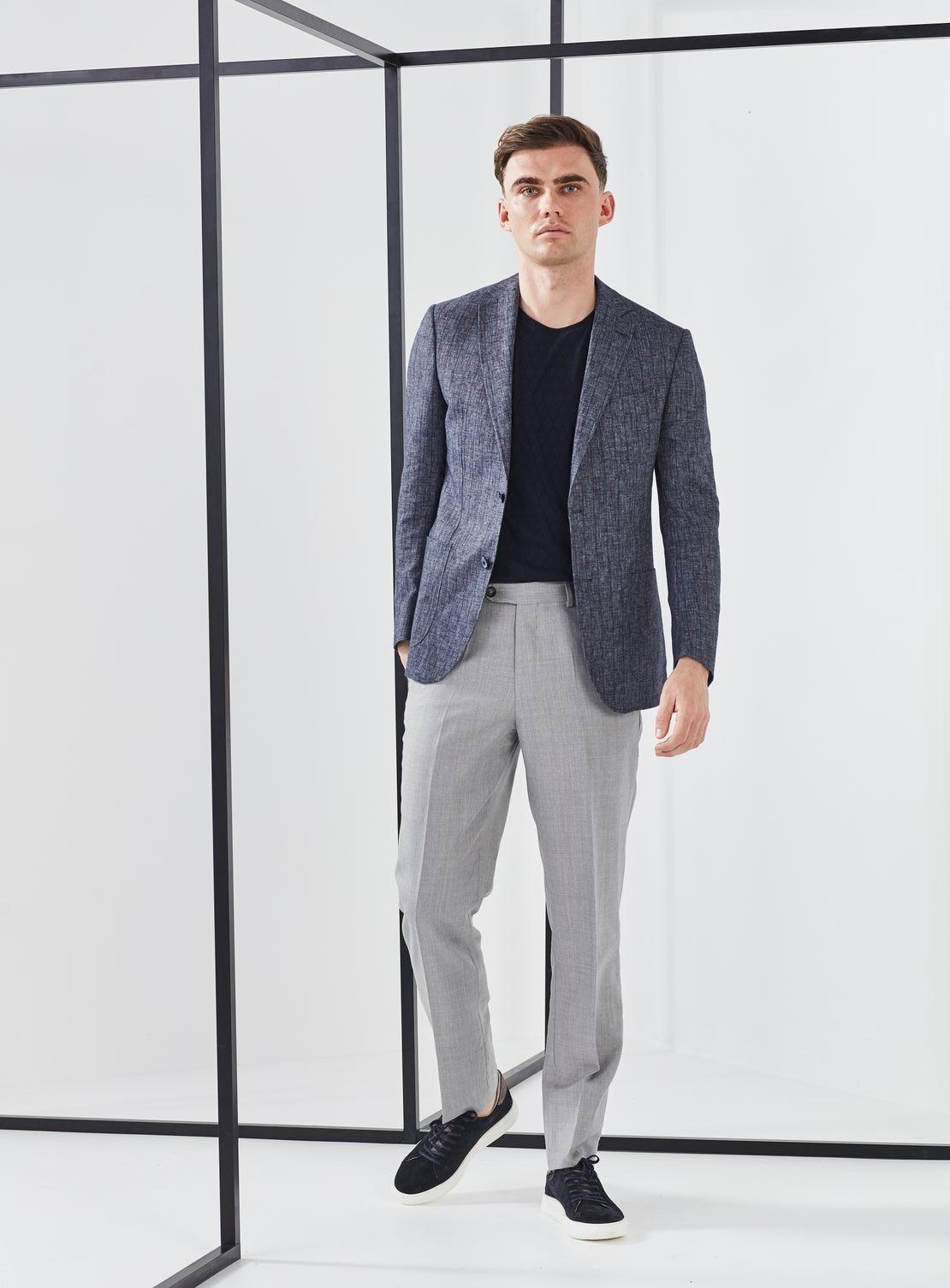 Grey Twill Dress Trouser