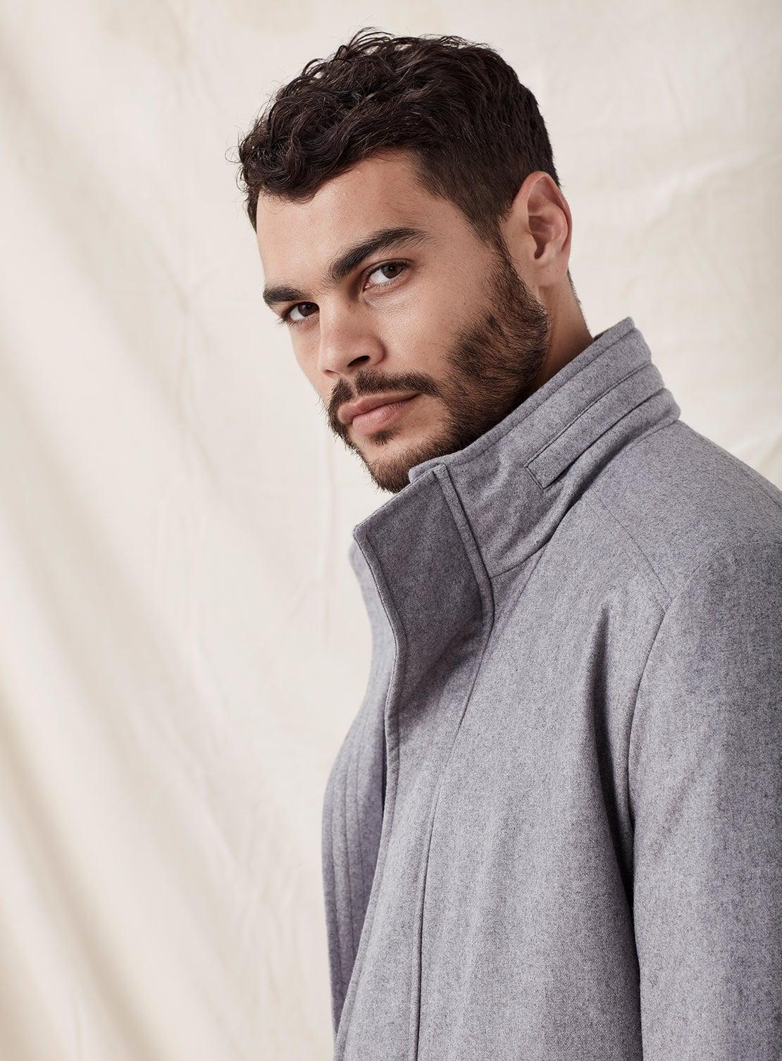 Grey Wool Outercoat