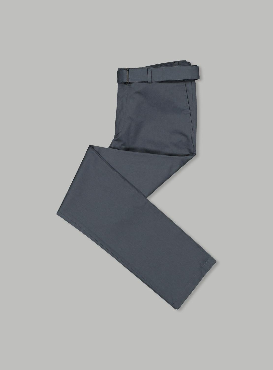 Gunmetal Cotton Trouser
