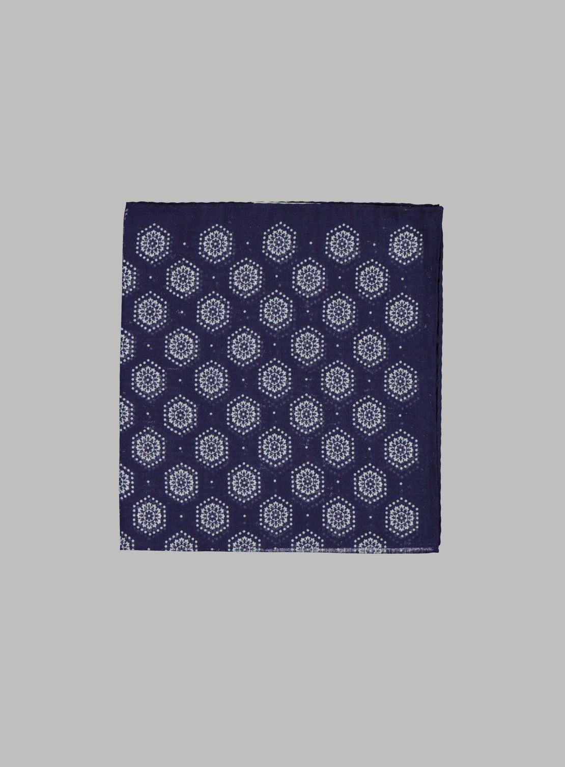 Hex Geometric Pocket Square