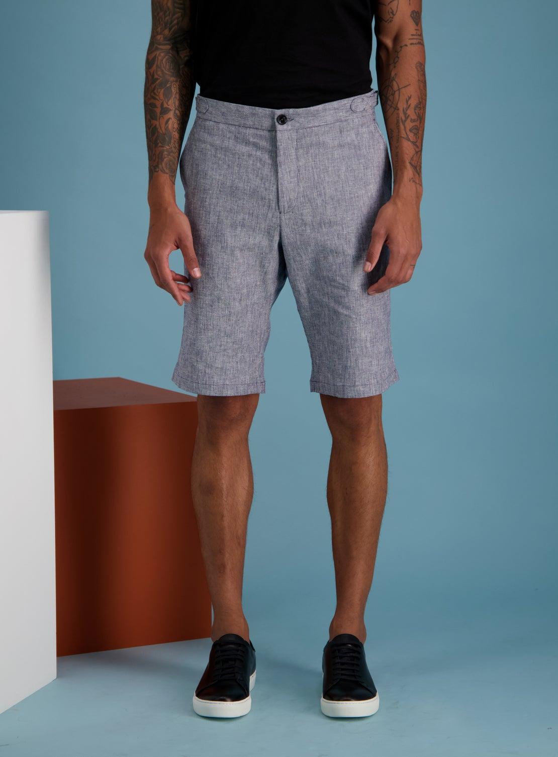 Hogan Navy Side Adjuster Shorts
