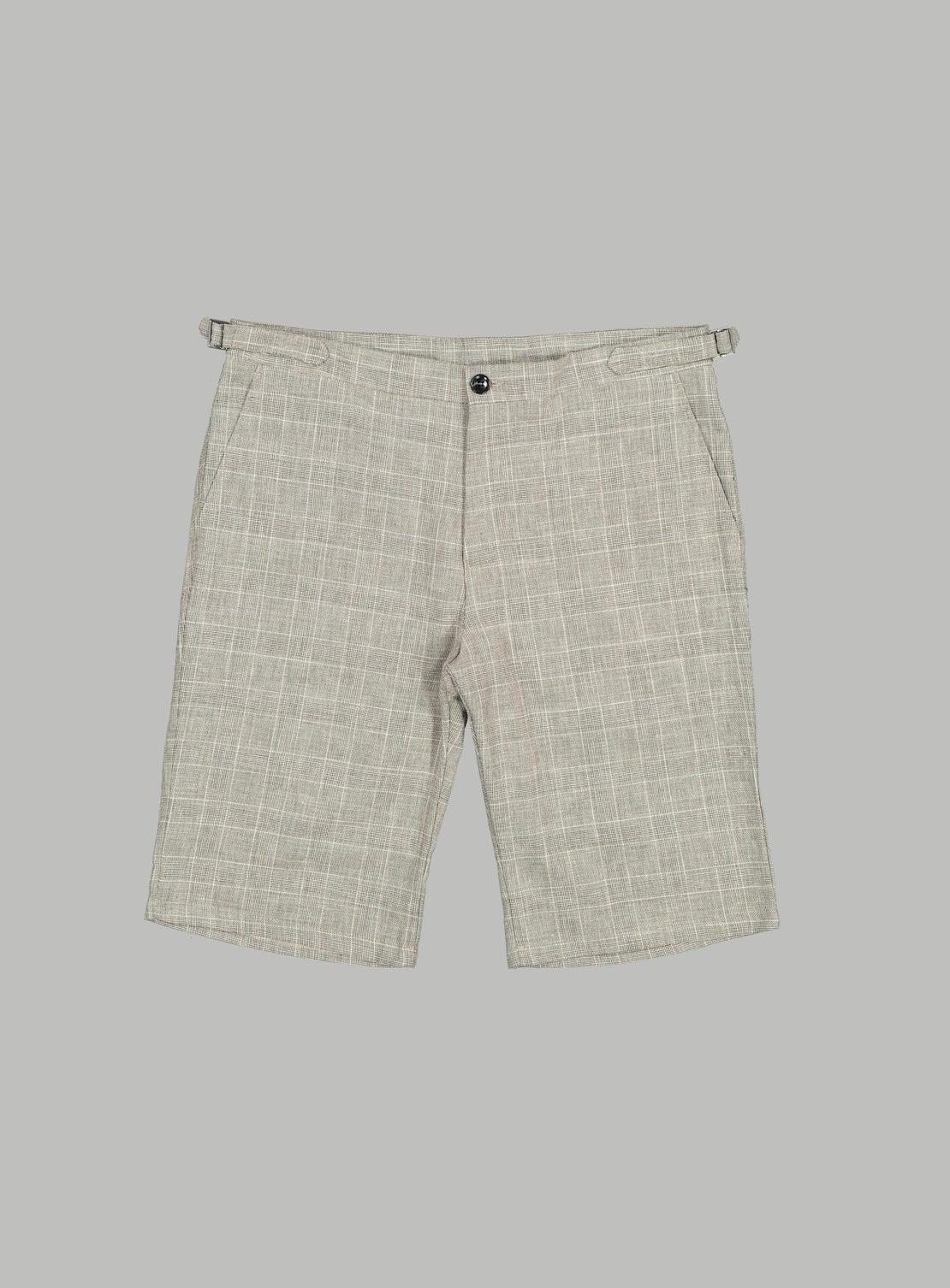 Hogan Taupe Check Side Adjuster Shorts