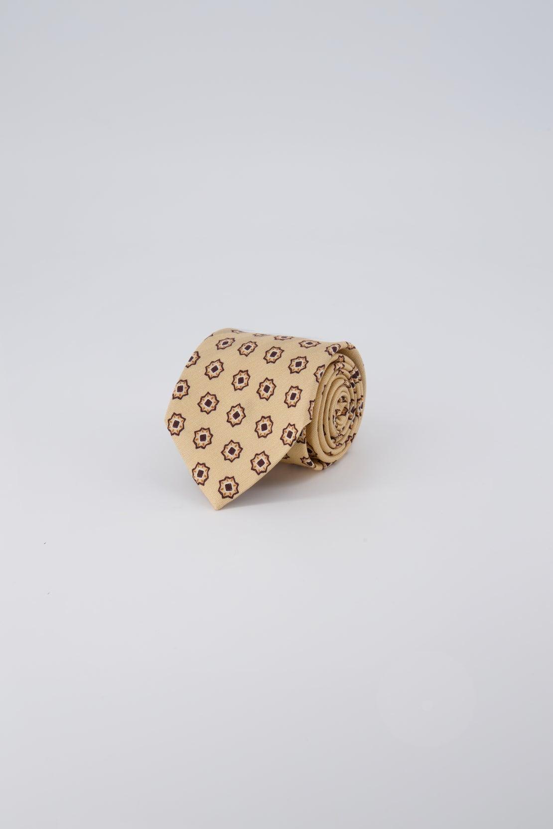 Honey Oxford With Star Design Tie