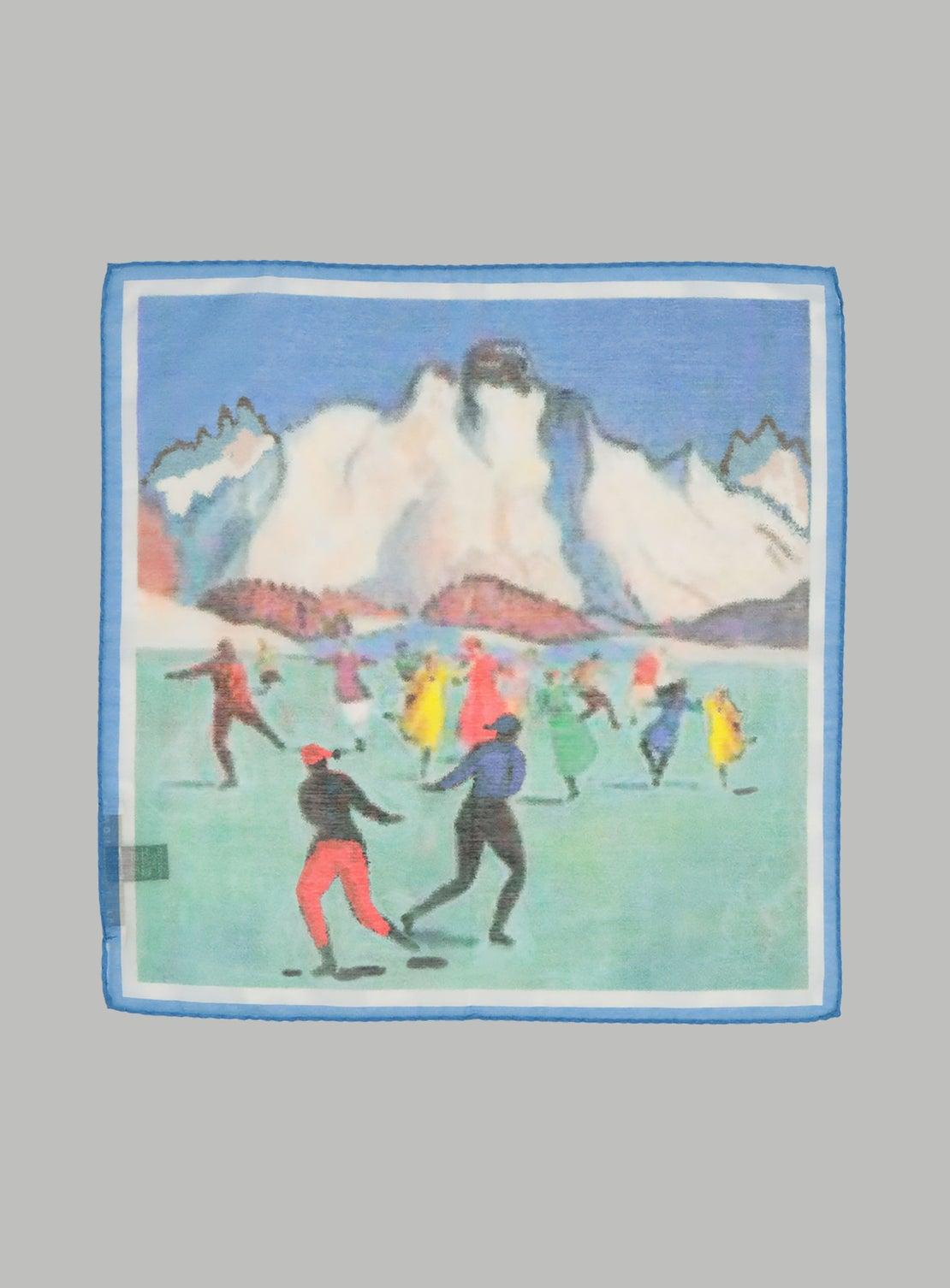 Ice Skating Pocket Square
