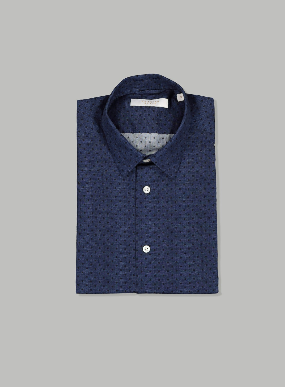 Indigo Denim with Black Dots Shirt
