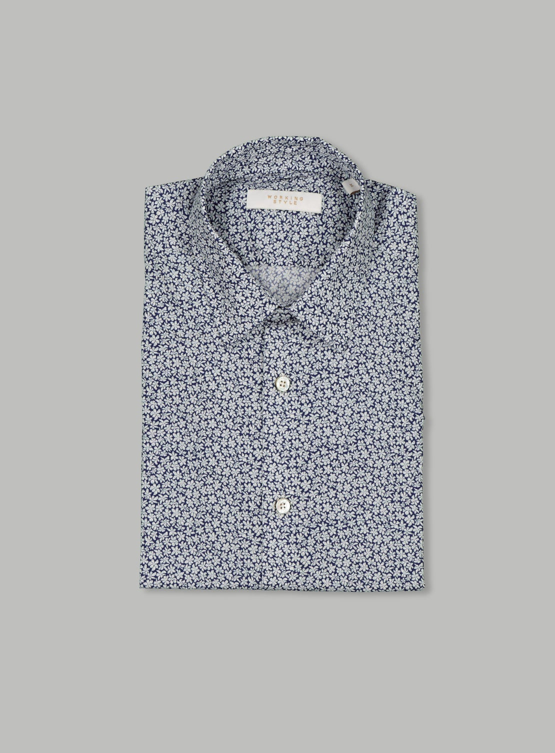 Indigo Small Floral Shirt