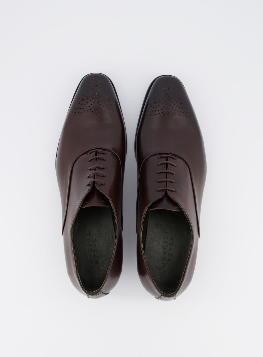 Isaak Chocolate Brogue Shoe
