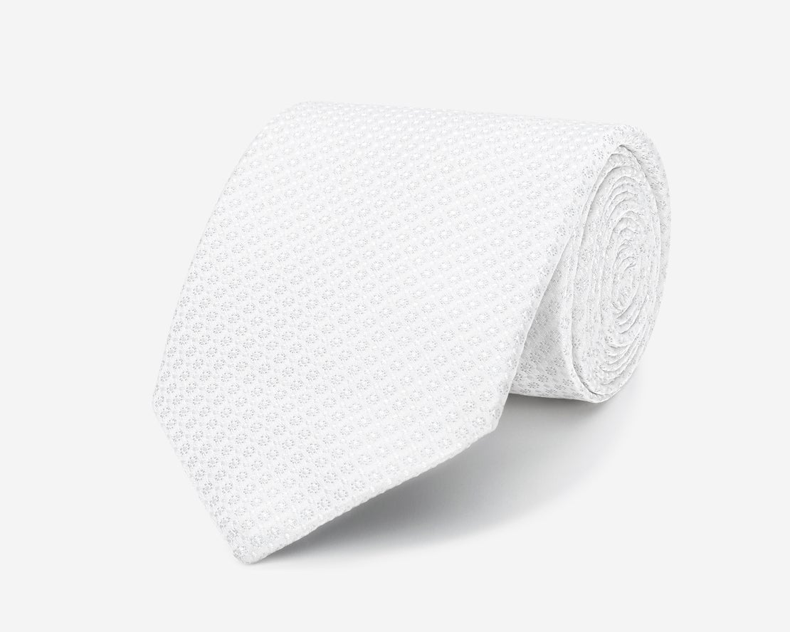 Ivory with Self Dot Tie
