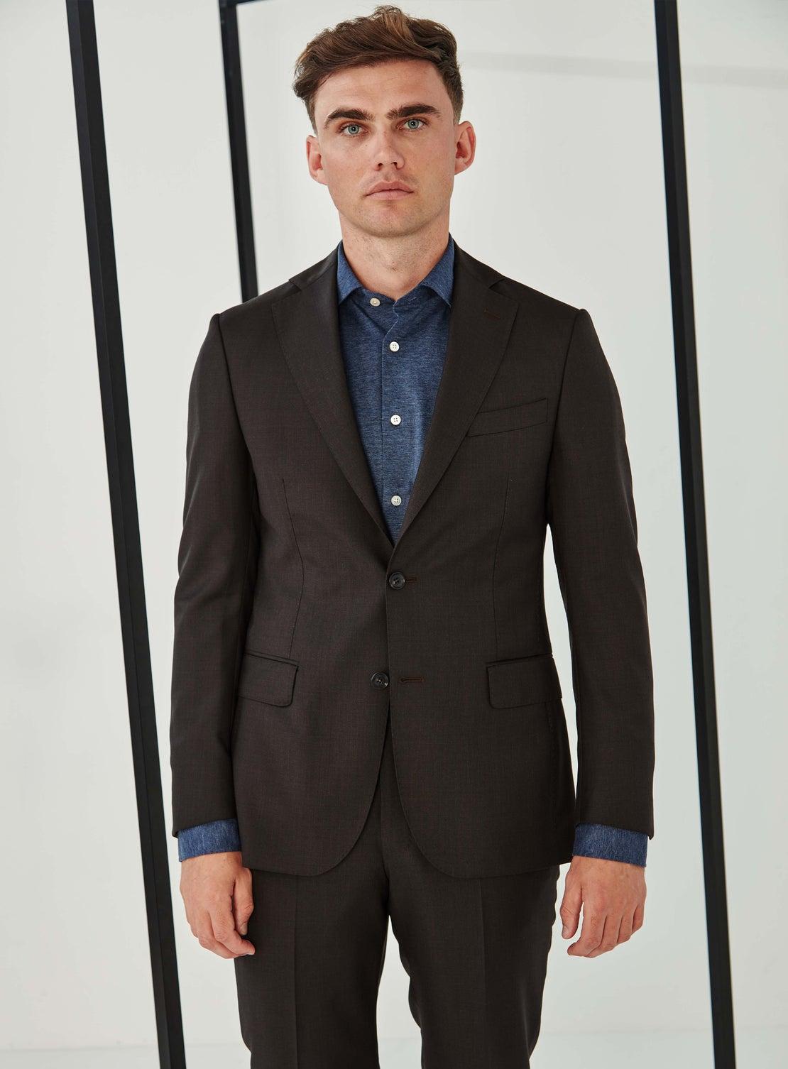 Jimmy Chocolate Melange Suit