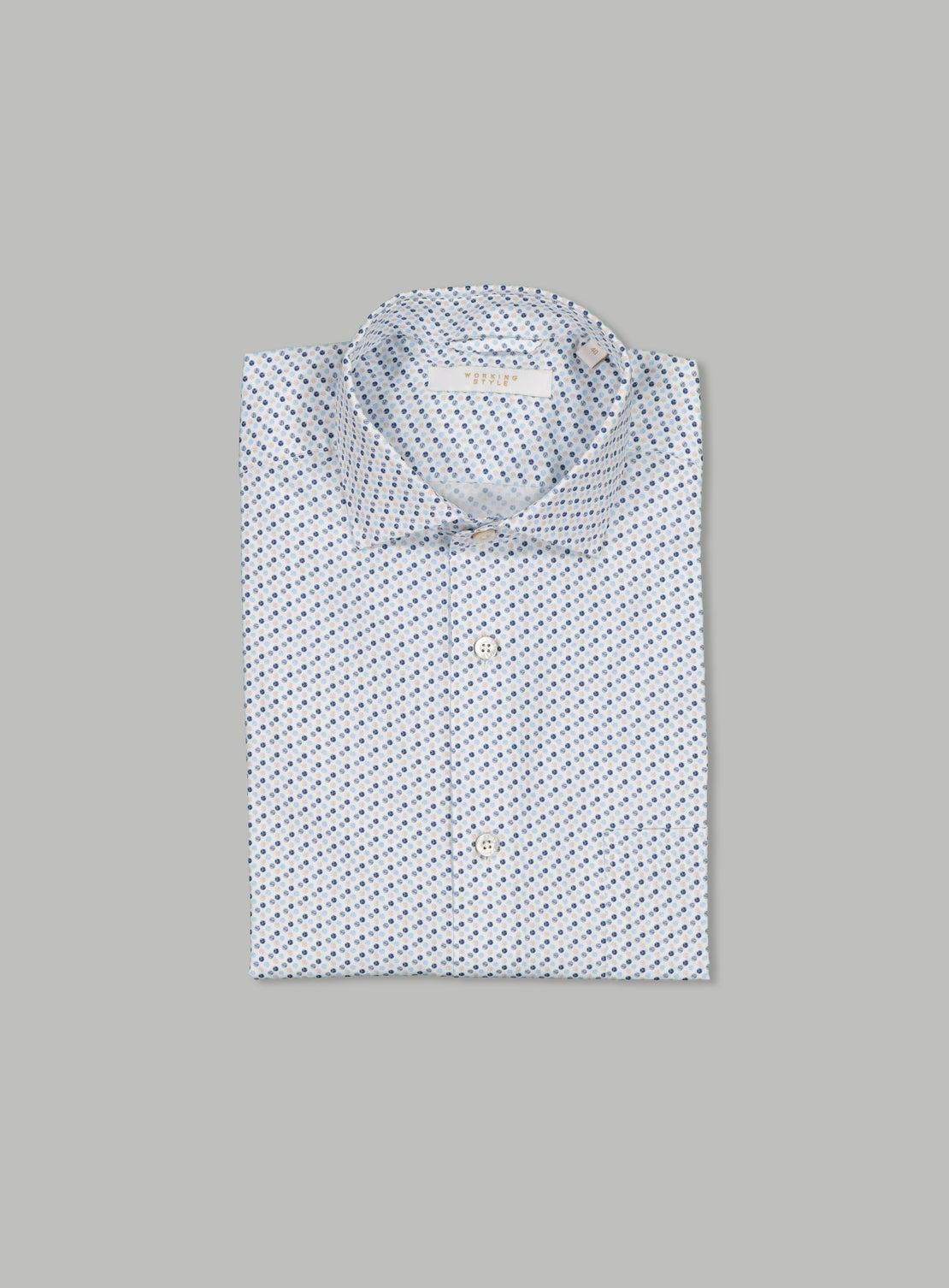 Josef White Micro Pattern Shirt
