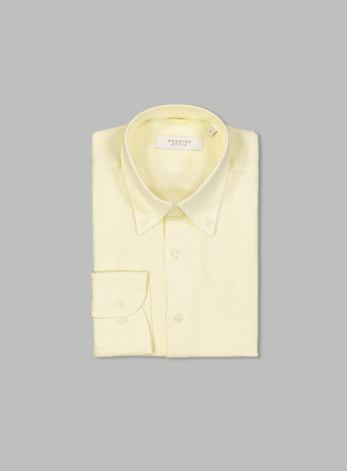 Karel Yellow Linen Shirt