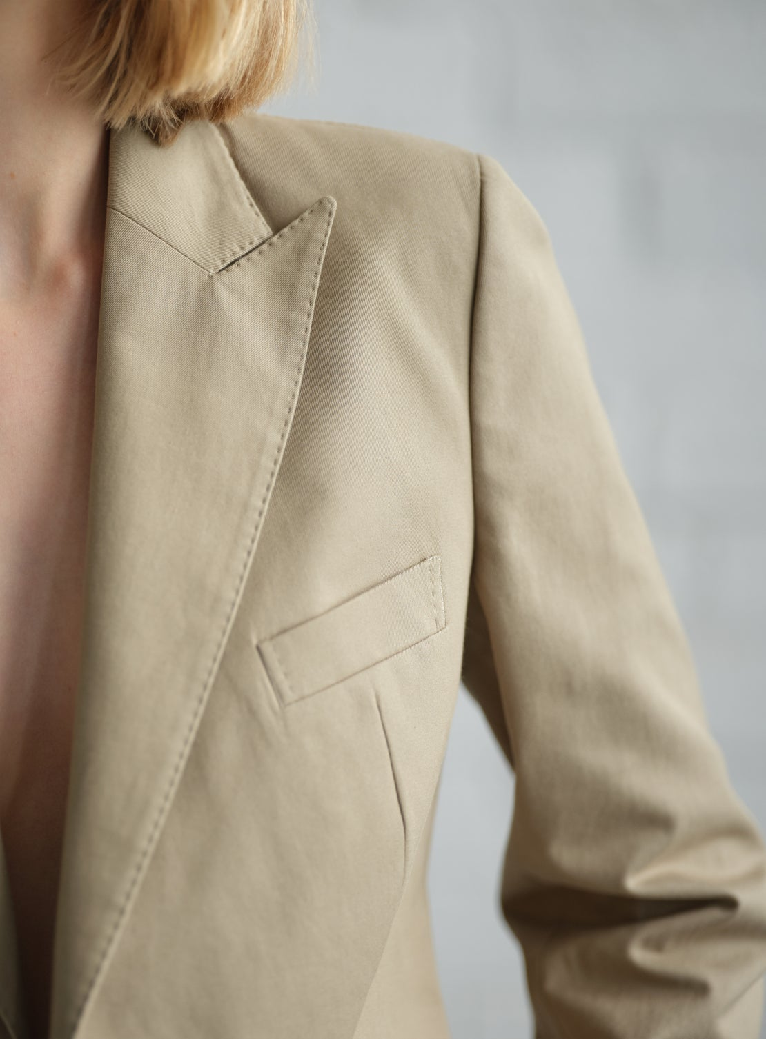 Khaki Cotton DB Jacket