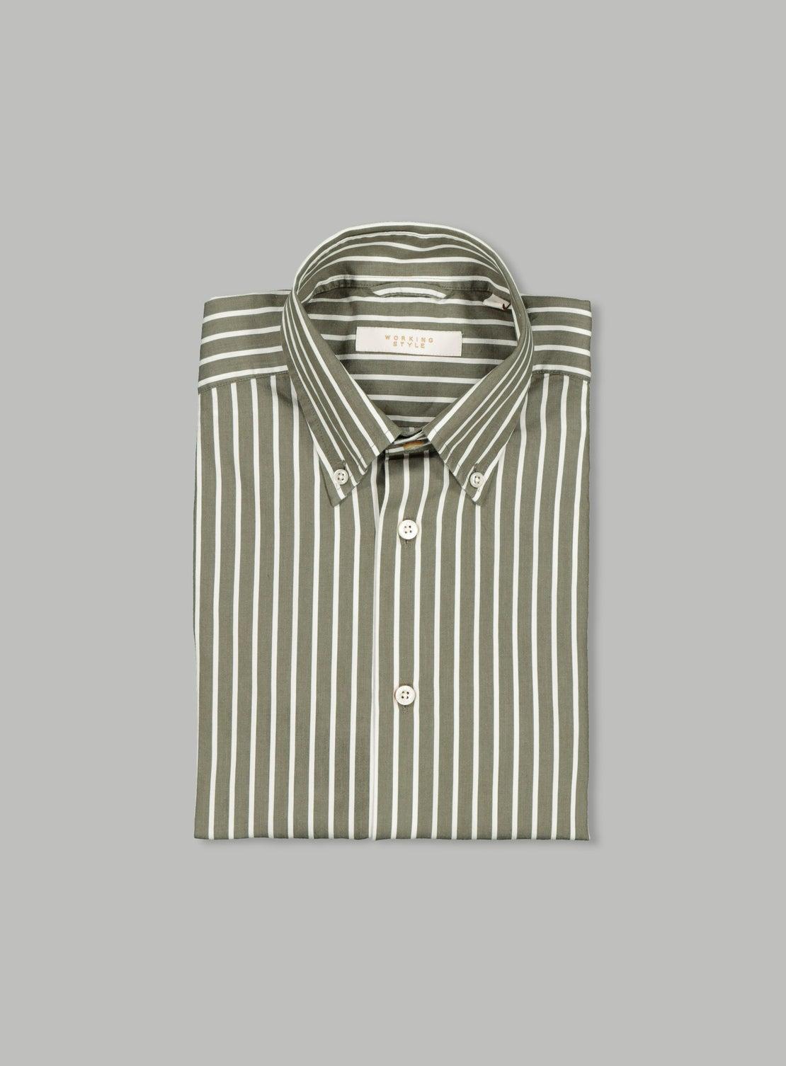 Khaki Stripe Button Down