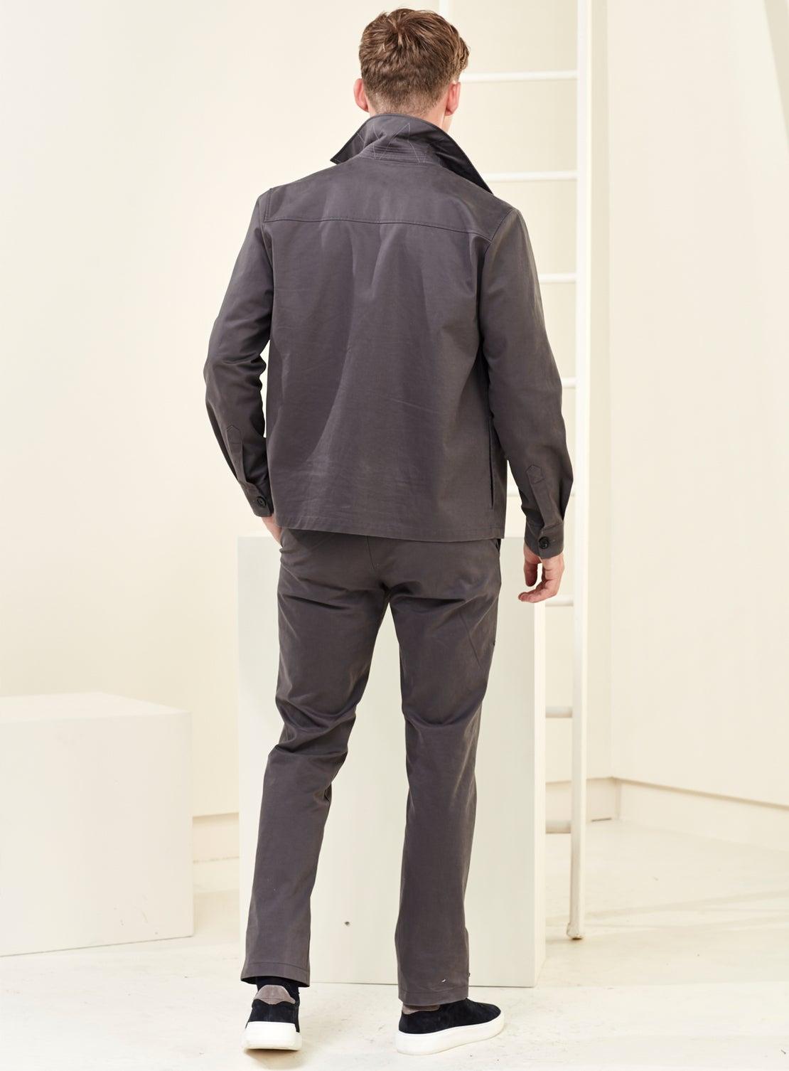 Khaki Twill Coat