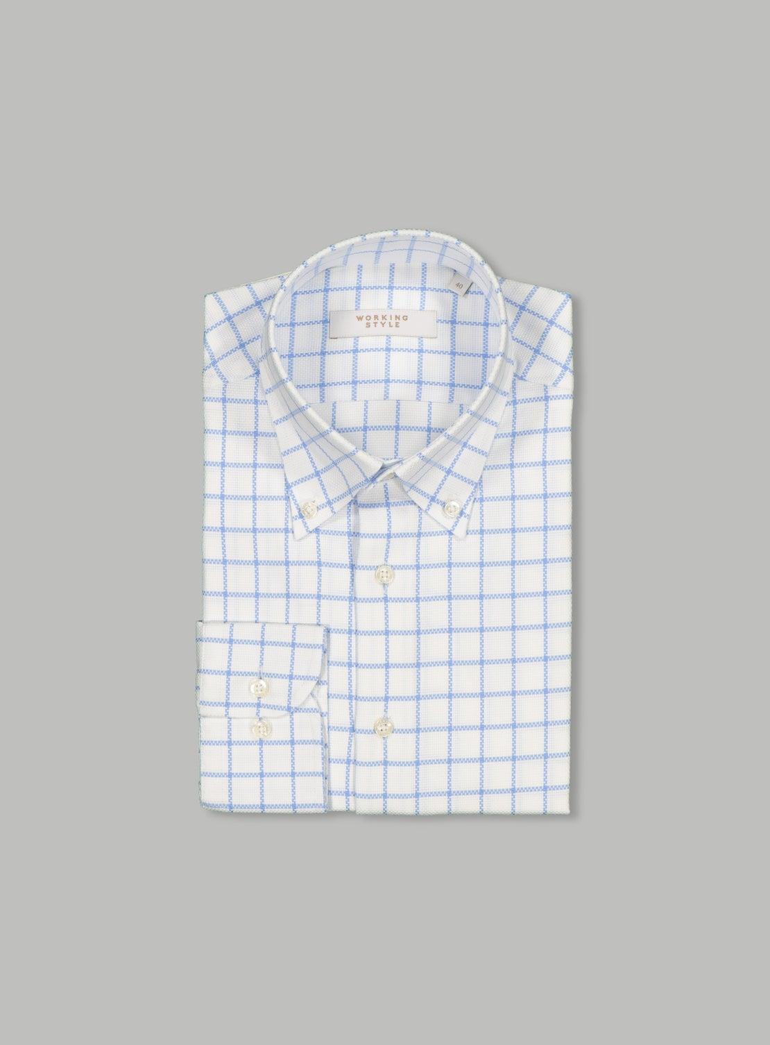 Large Blue Check Shirt