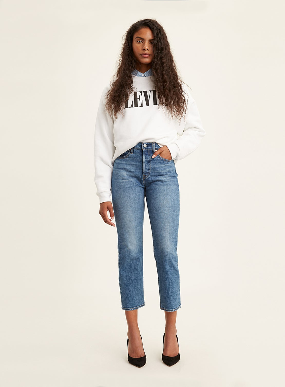 Levi's Wedgie Fit Straight Jeans - Jive Sound