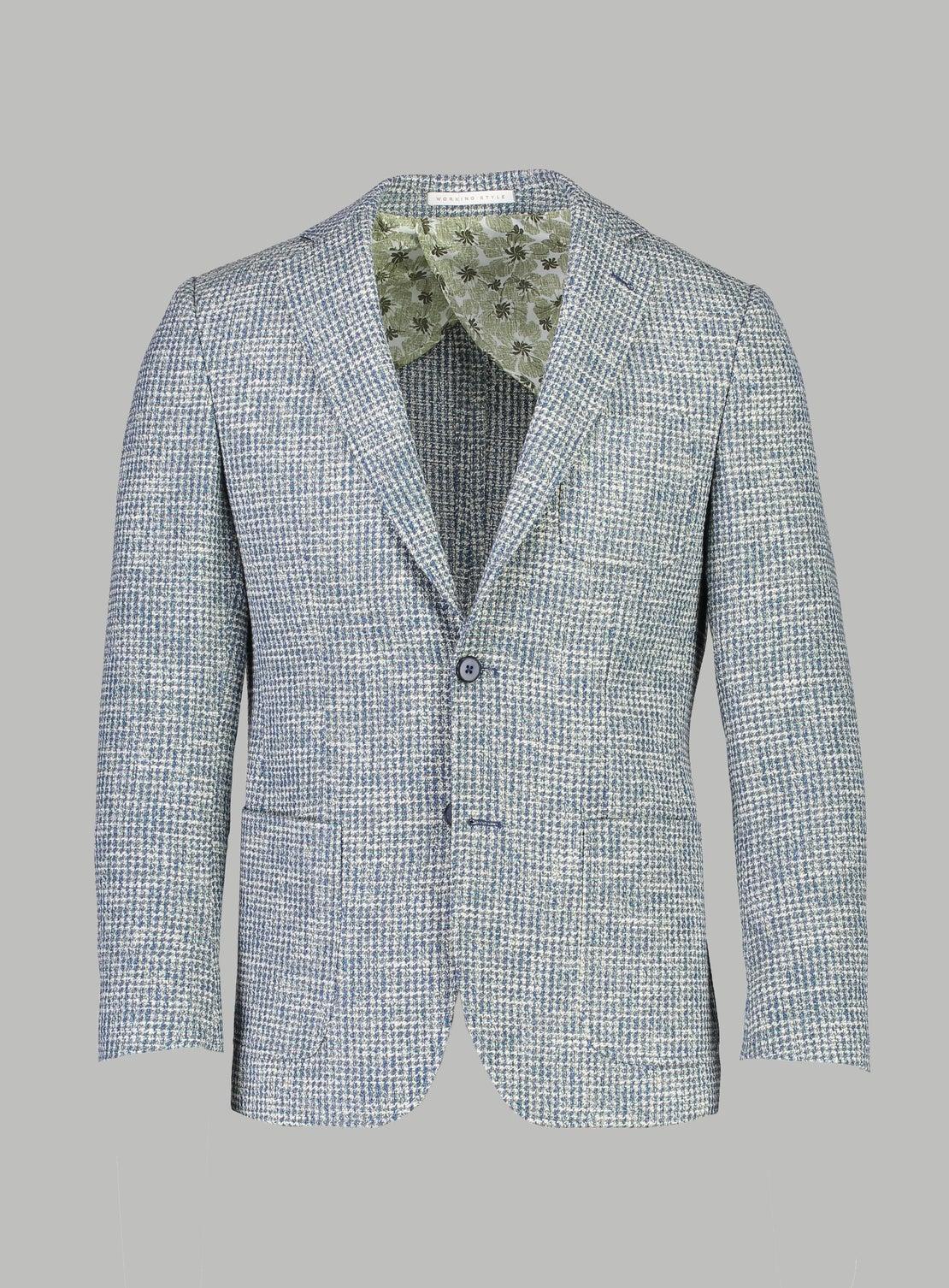 Lewis Navy & Cream Sportscoat