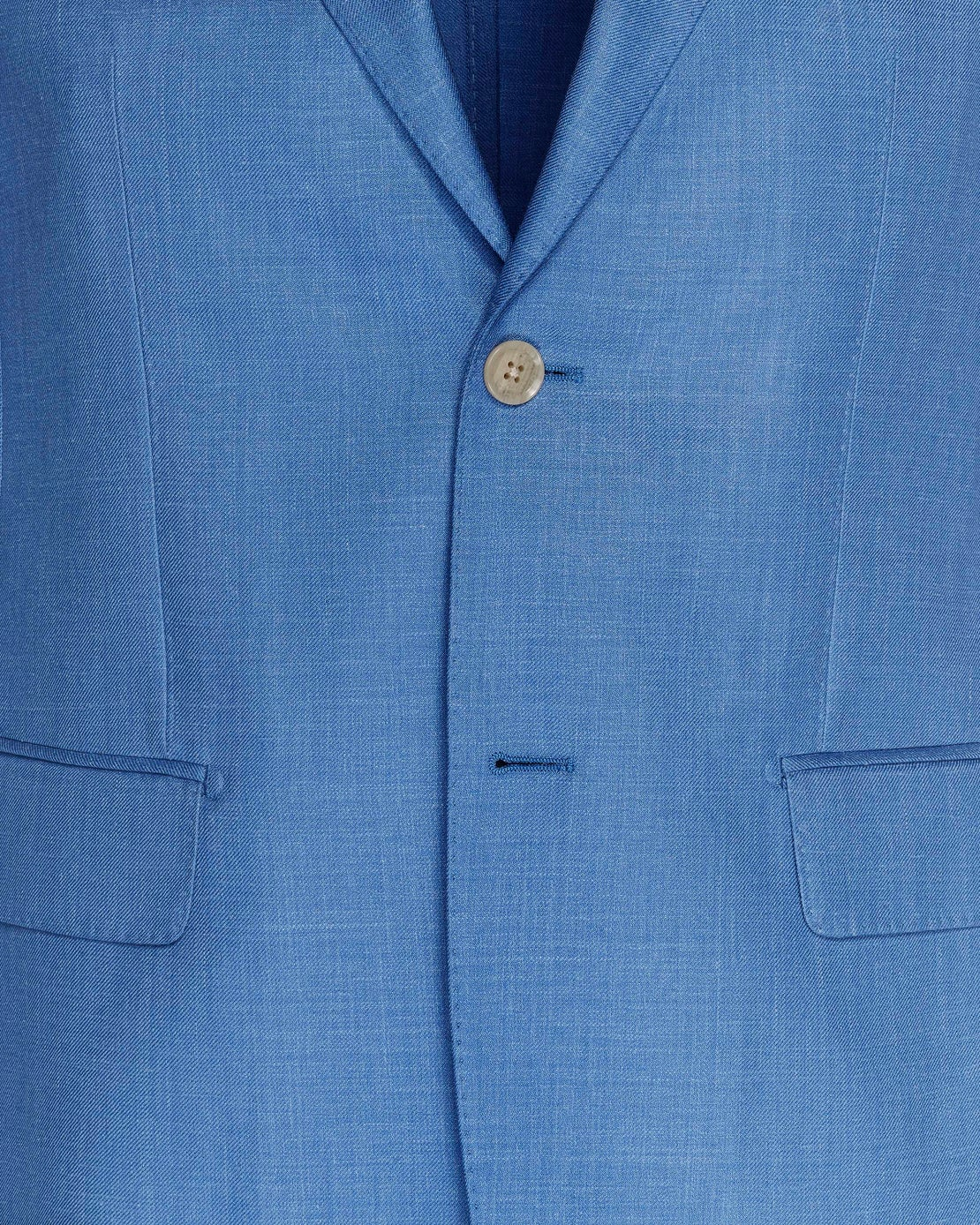 Light Blue Loro Piana Silk, Linen & Wool Jacket