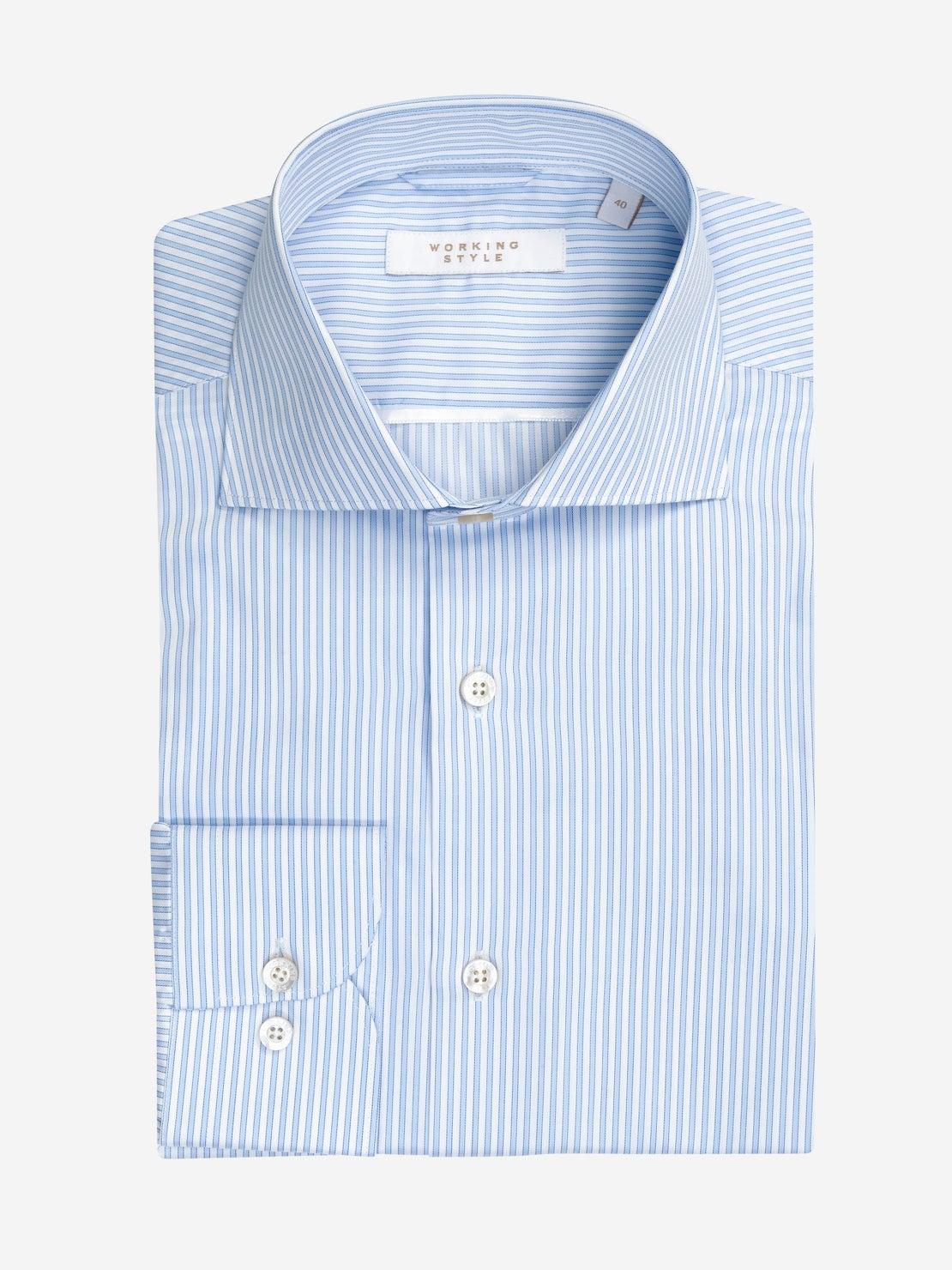 Light Blue & White Sripe Shirt