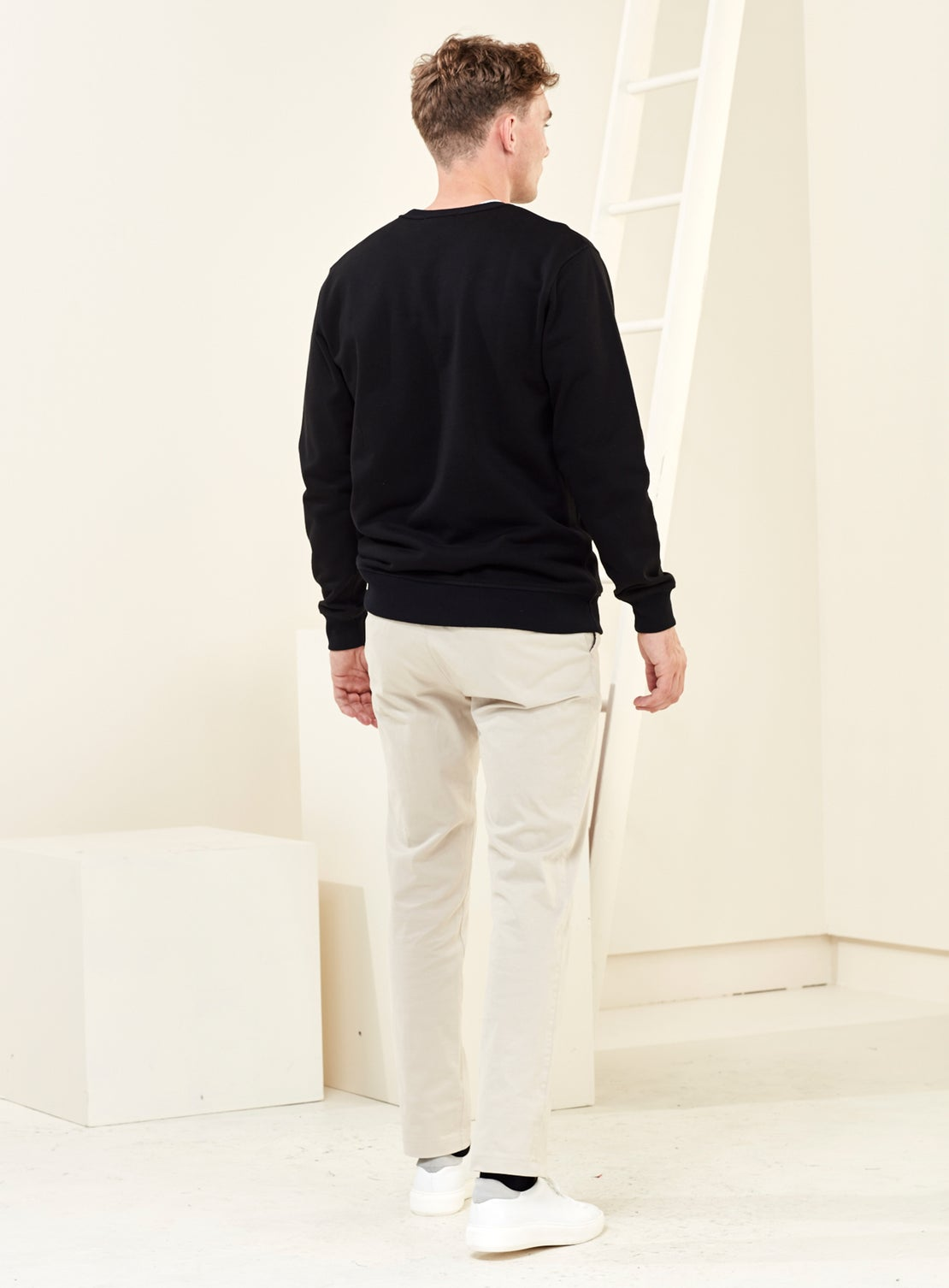 Liston Black French Terry Sweatshirt