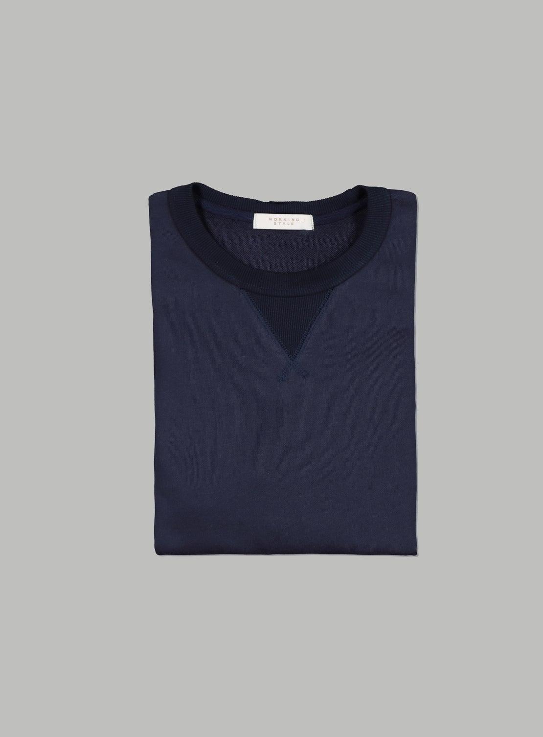 Liston Dark Navy French Terry Sweatshirt