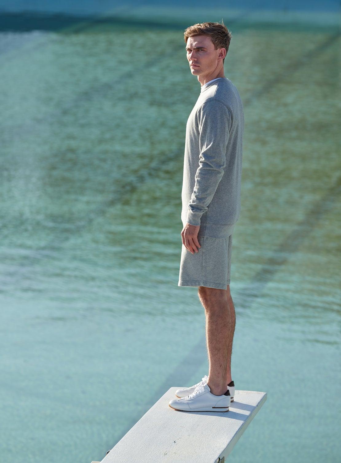 Liston Grey Marle French Terry Sweatshirt